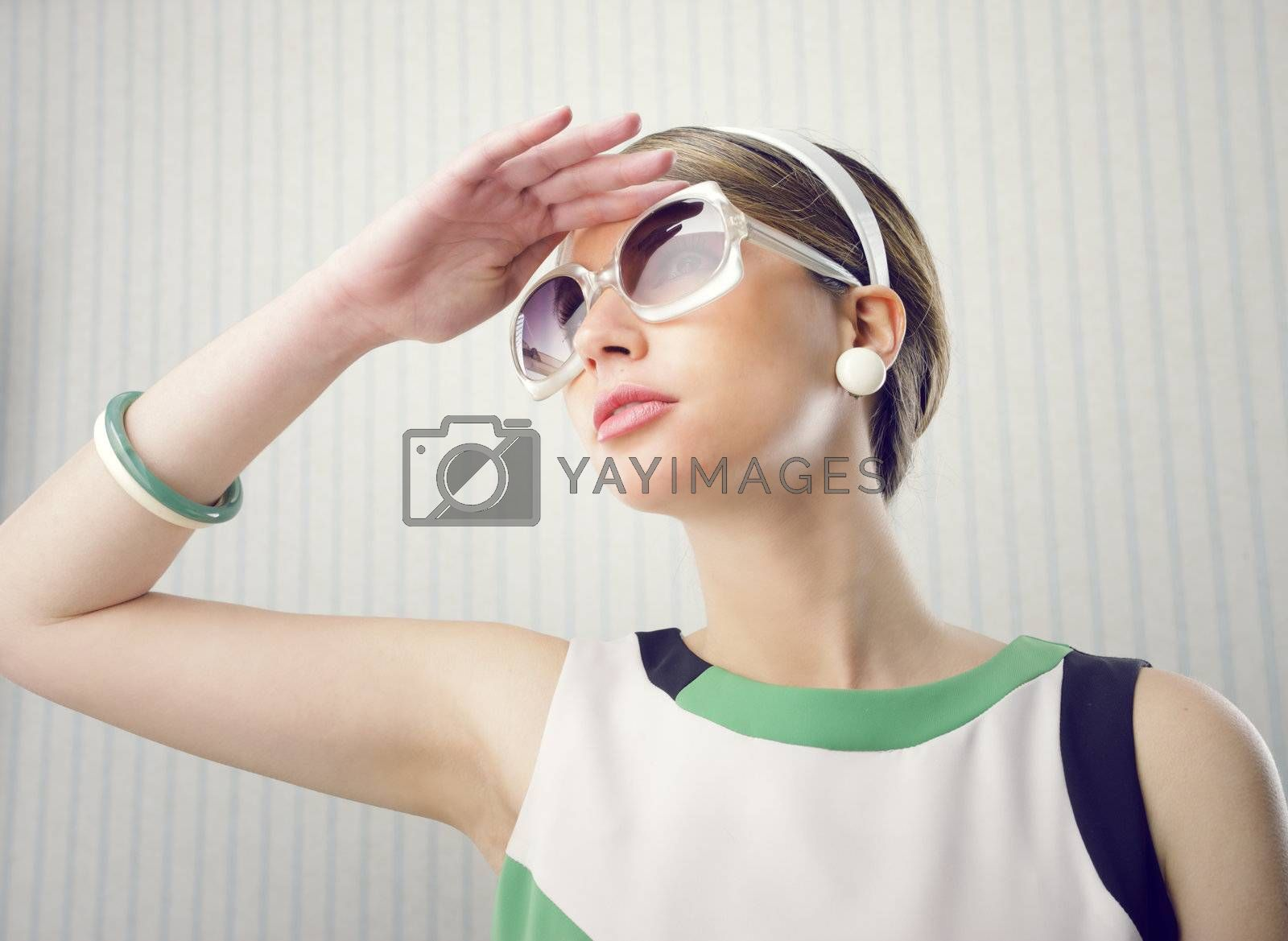 Fashion model with sunglasses by stokkete