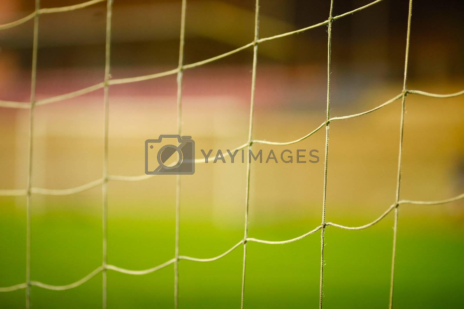 football goal net close up detail