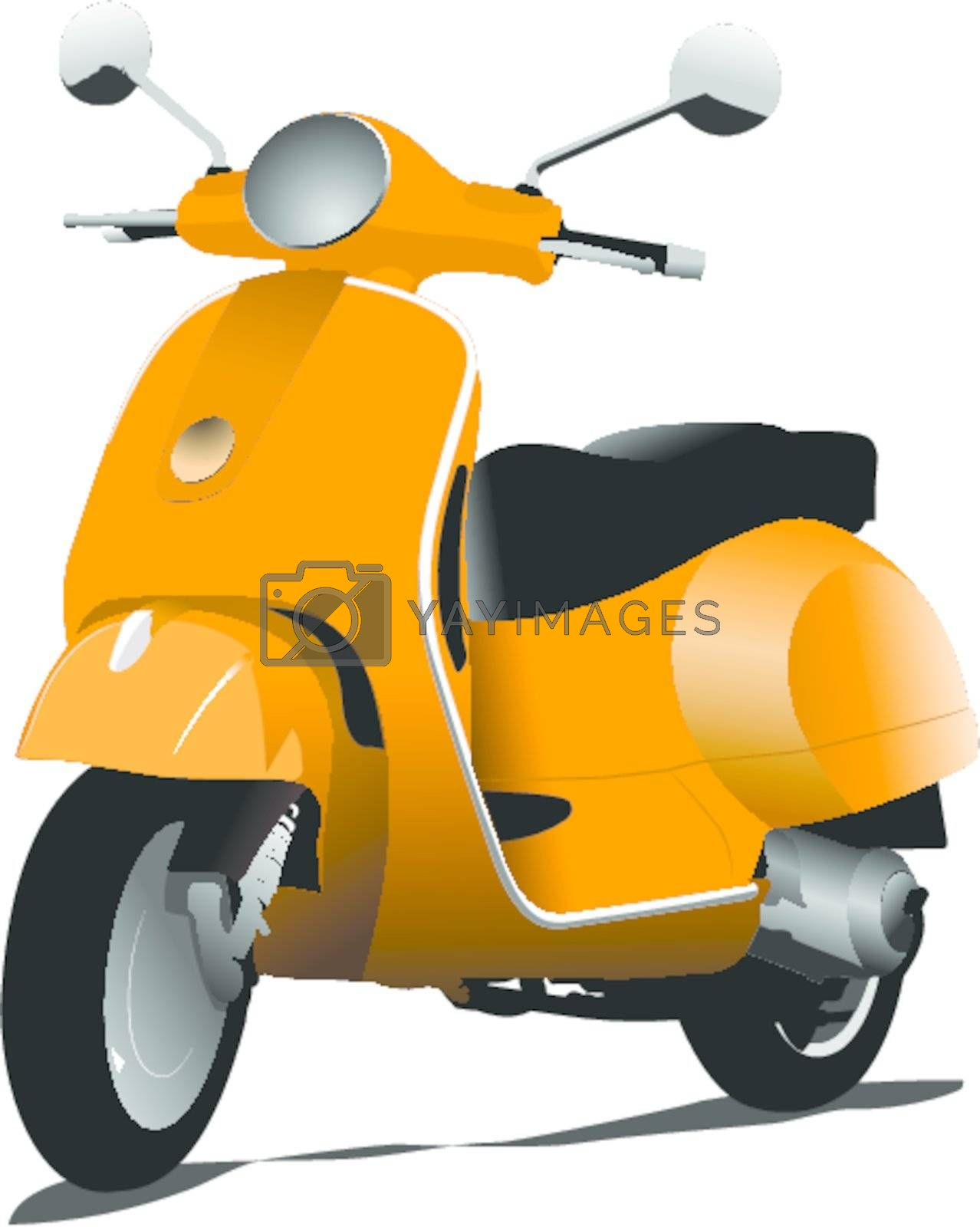 orange city scooter vector illustration royalty free stock image stock photos royalty free images vectors footage yayimages yayimages