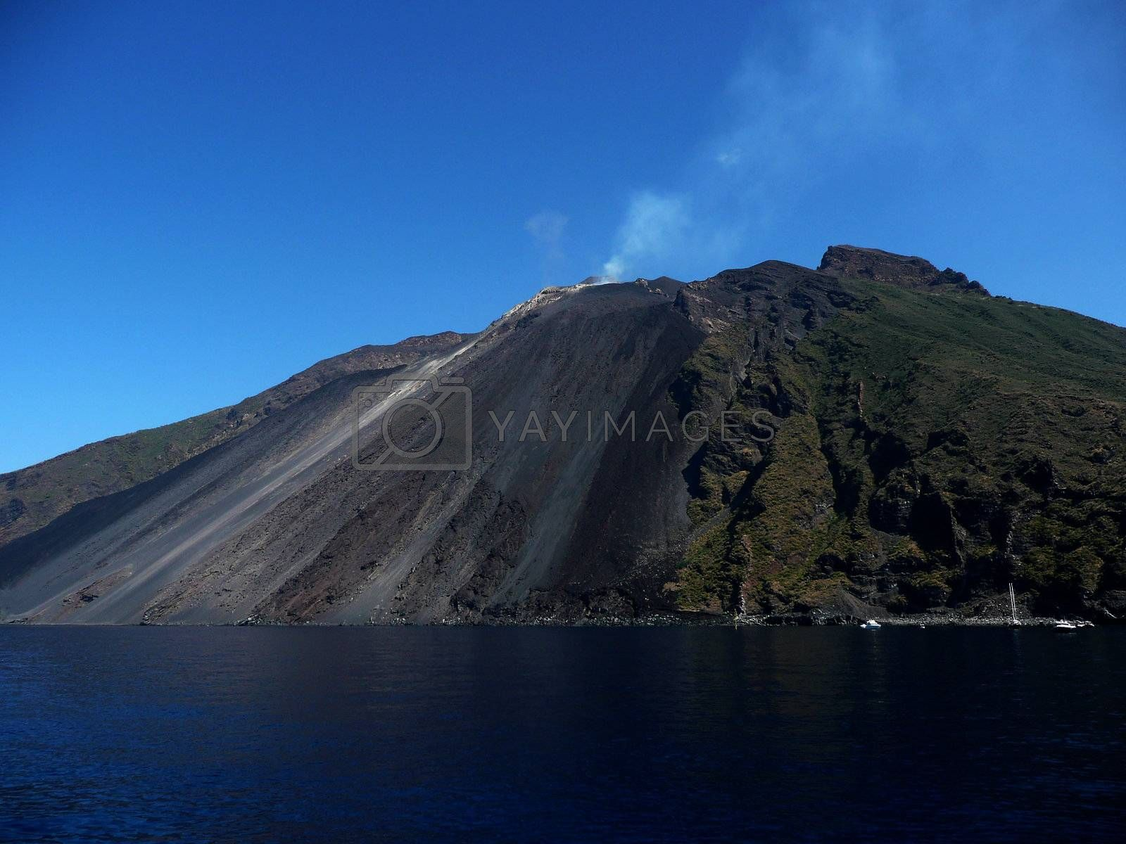 Stromboli, active volcano which is part of the Aeolian Islands A by Marco Rubino