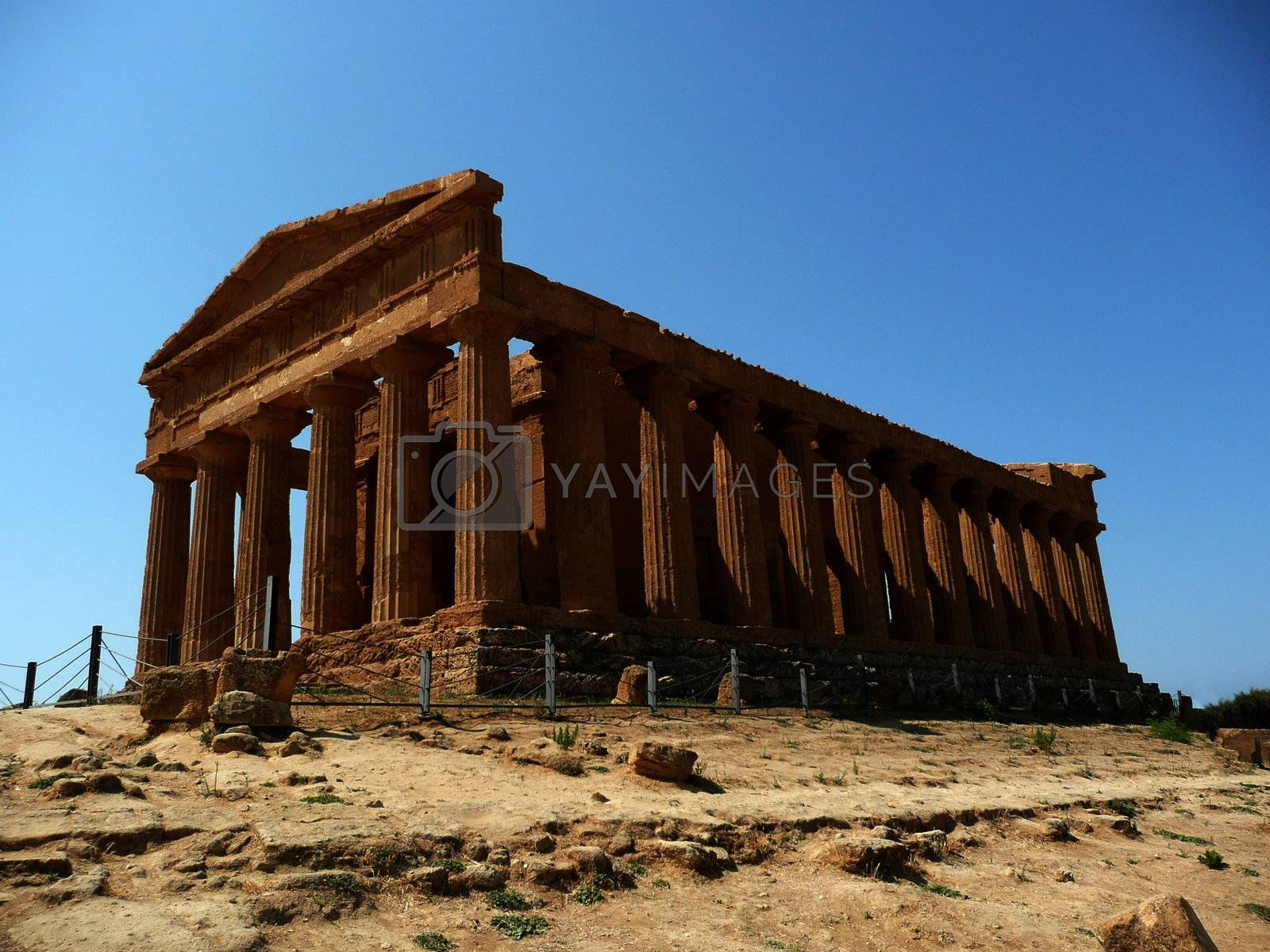 The Temple of Concordia, Agrigento, Italy by Marco Rubino