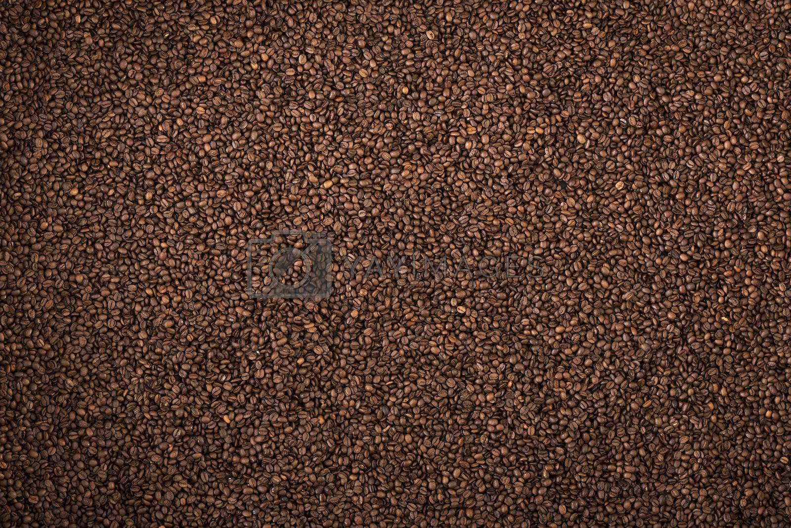 Coffee brown roasted grains texture