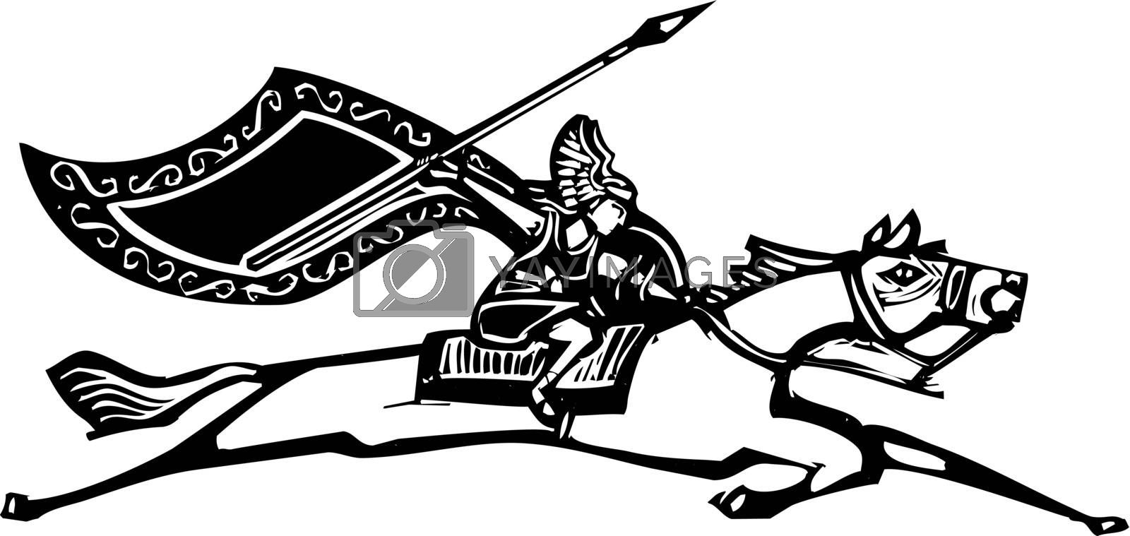 Valkyrie on Horse by Xochicalco