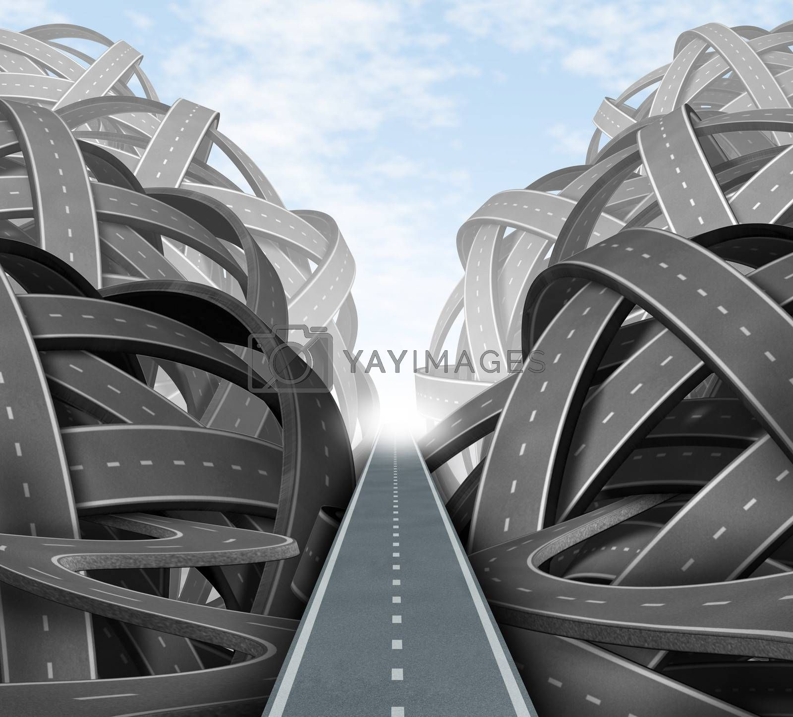 Cutting through the confusion with clear strategy and solutions for business leadership with a straight path to success choosing the right strategic path through a maze of tangled roads and highways.