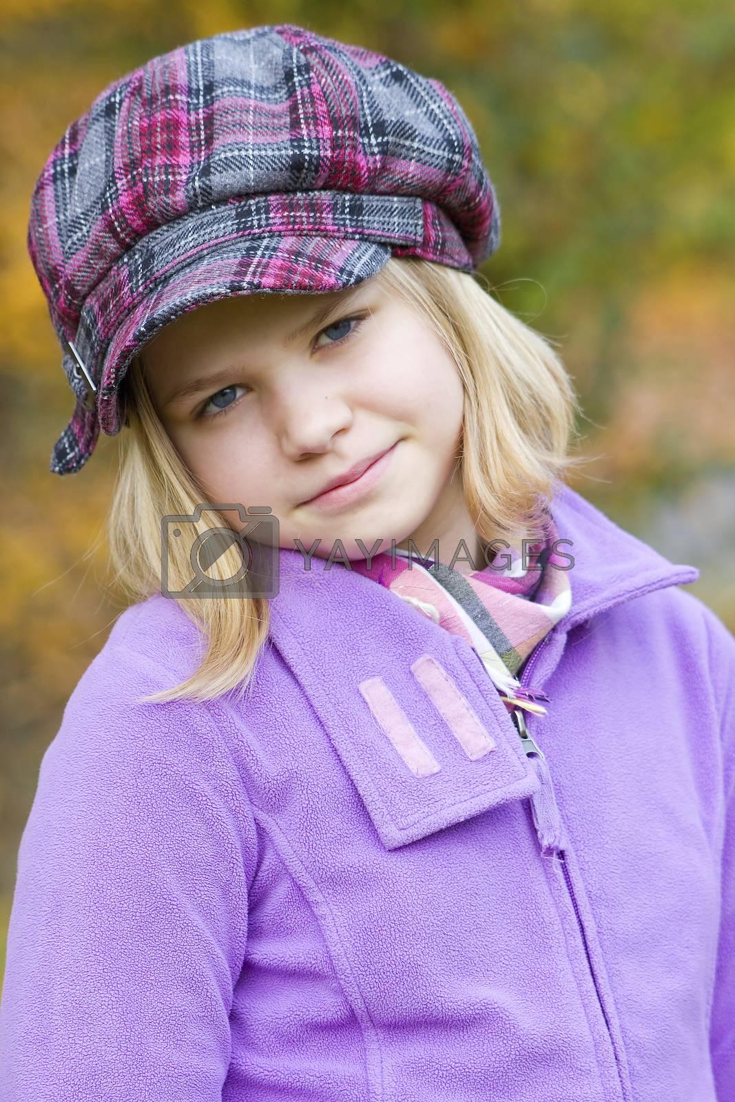 little girl - portrait by miradrozdowski