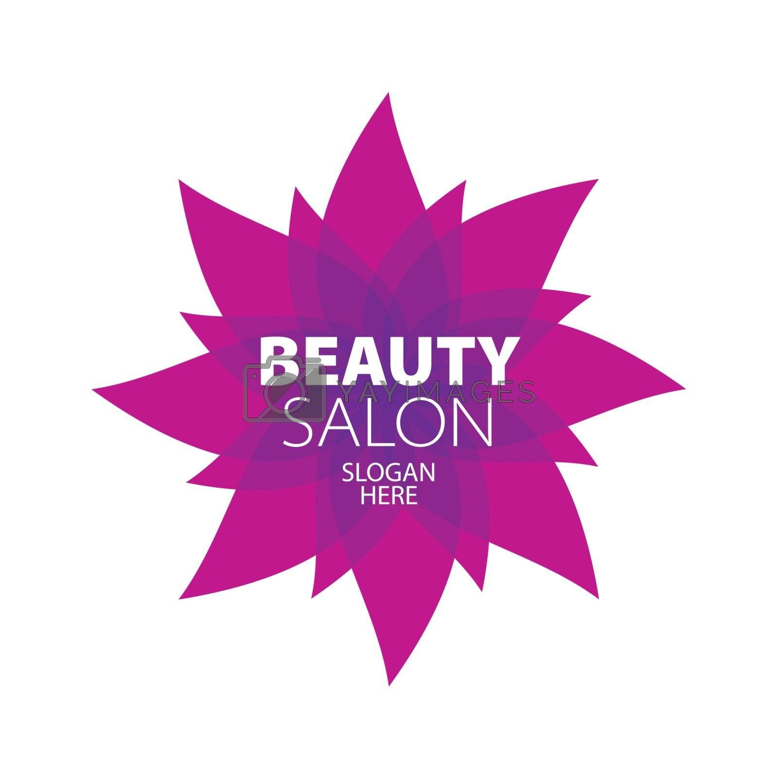 Abstract logo for beauty in the form of a red star