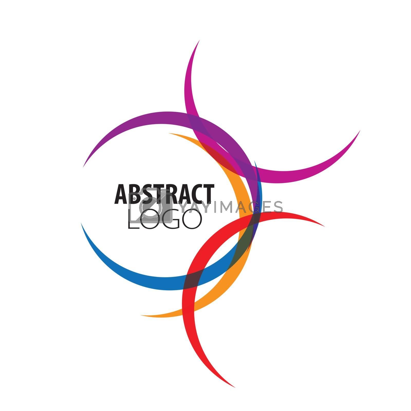 abstract logo of colored circles
