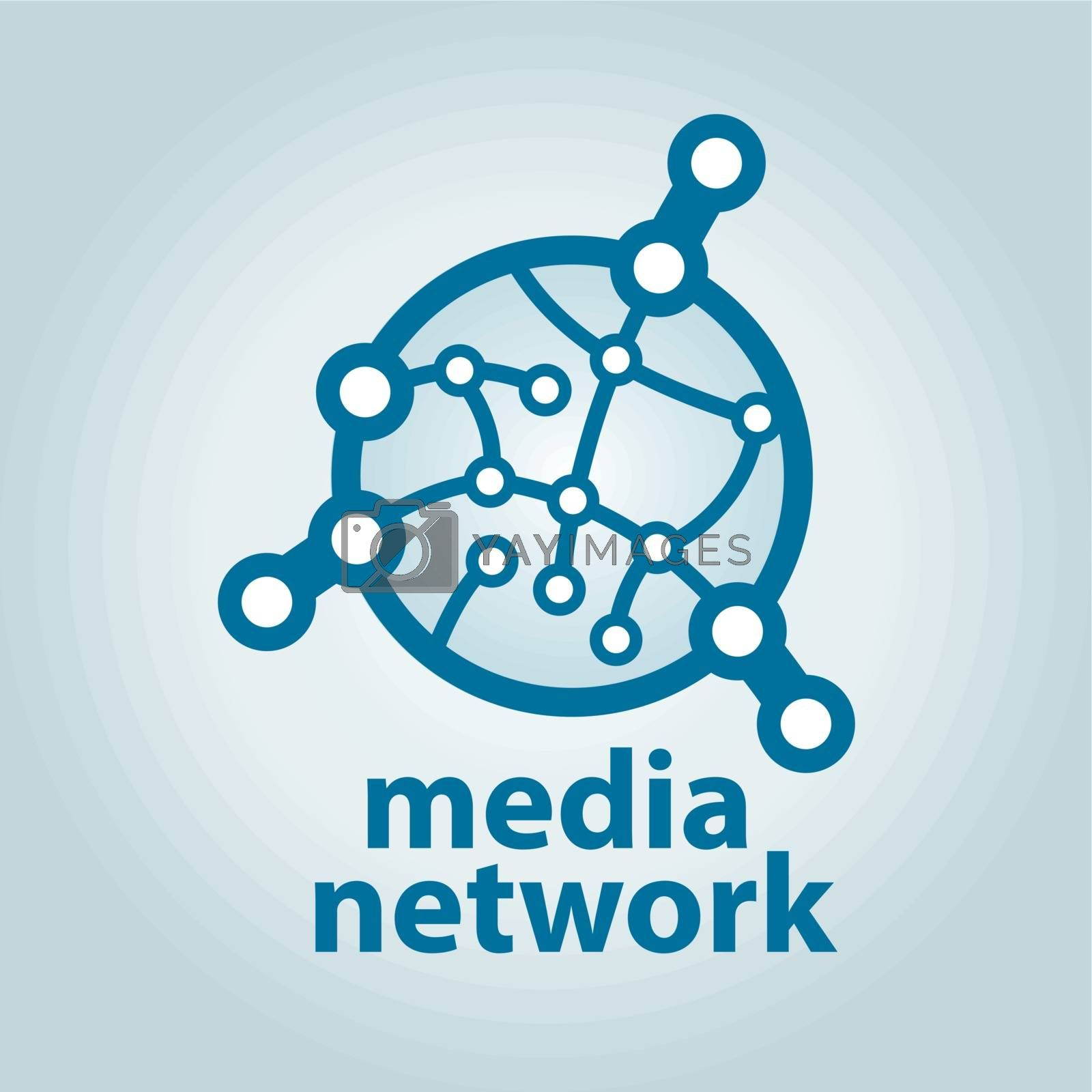 vector logo and electronic media network