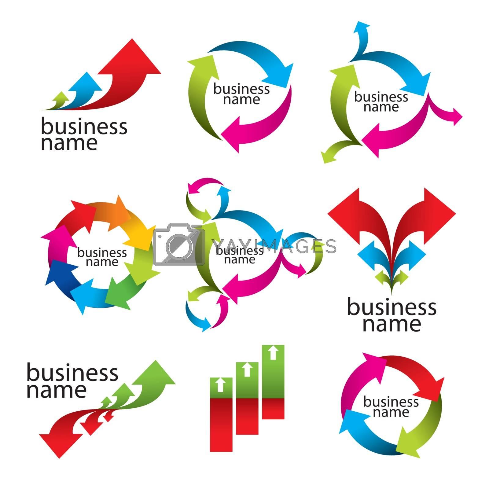 collection of vector logos, the arrows and diagrams