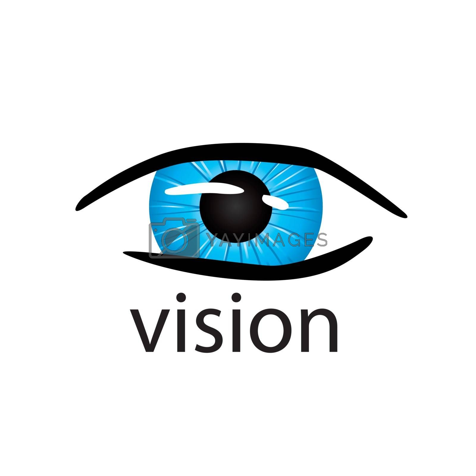 graphic vector logo eye close up