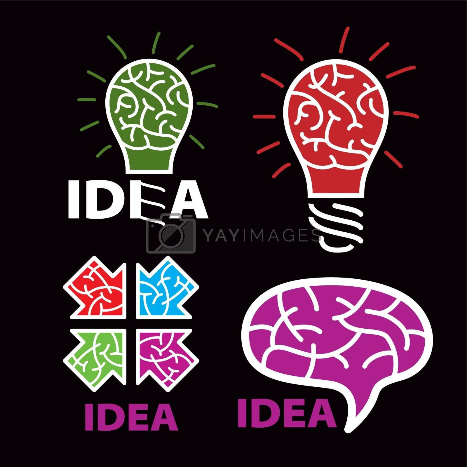 logo idea. brain on a black background