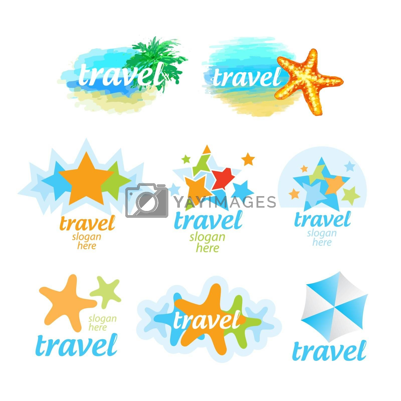 Collection of logos for the travel and tourism