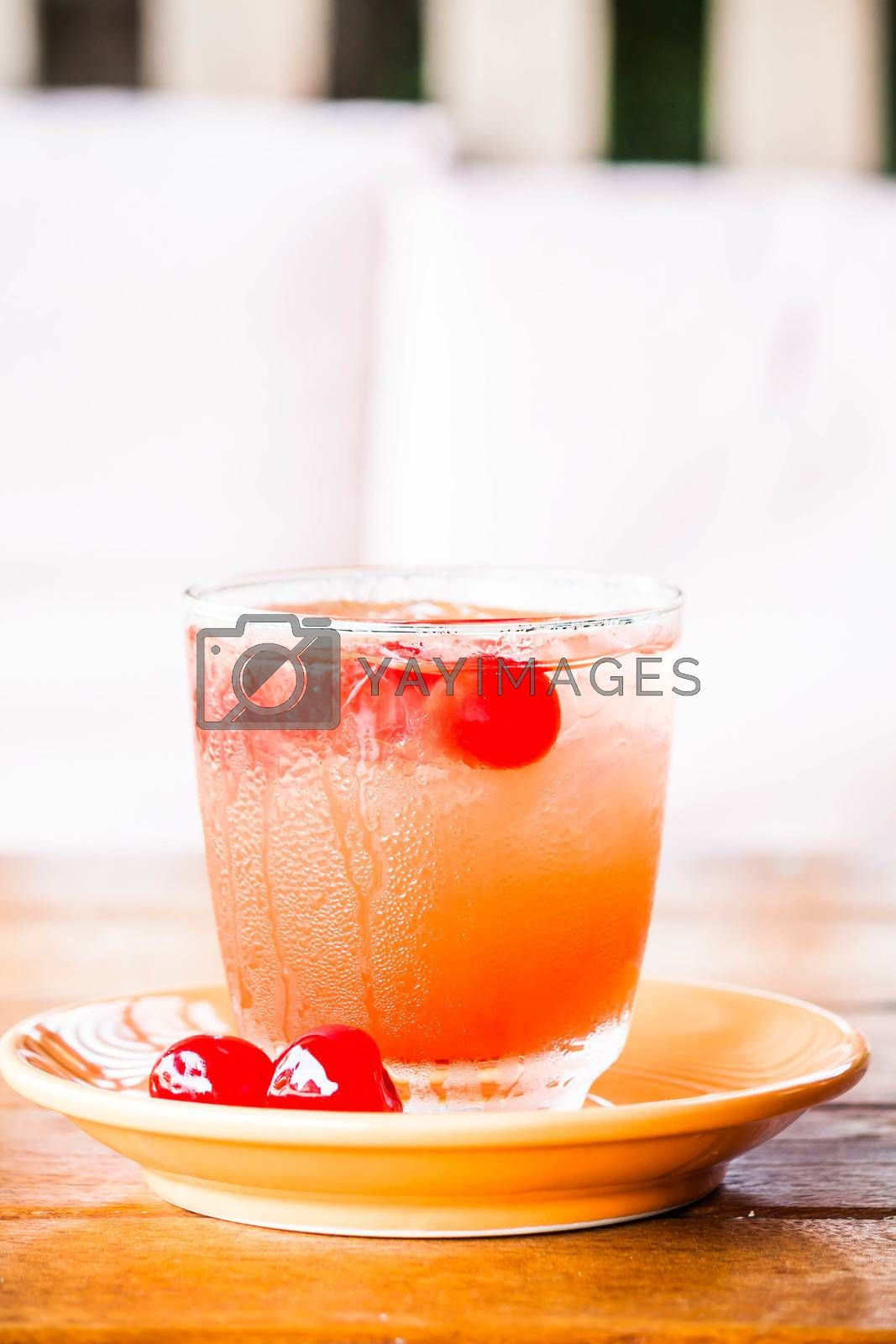 Signature drink with fresh mix fruits juice soda