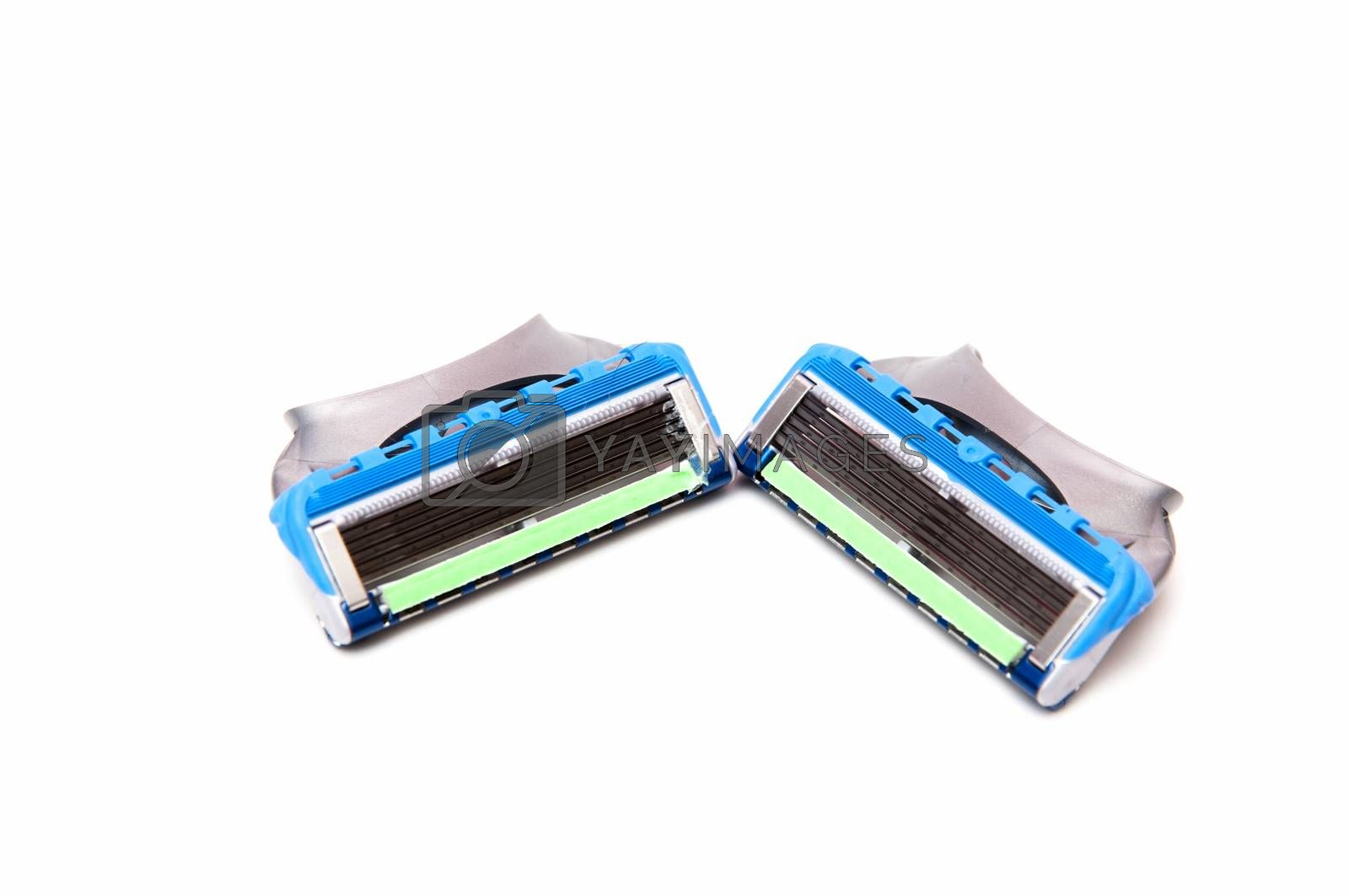 razor blue with many blades for better shaving
