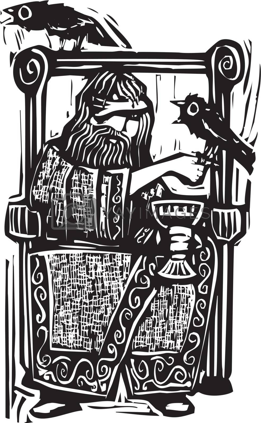 Odin on Throne by Xochicalco