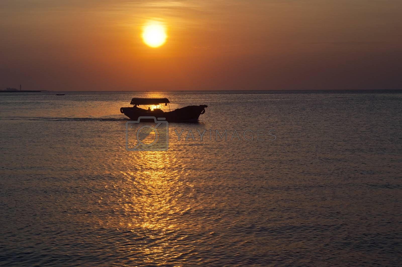 Hainan Island, China is in the tropics, the sky would often beautiful sunset