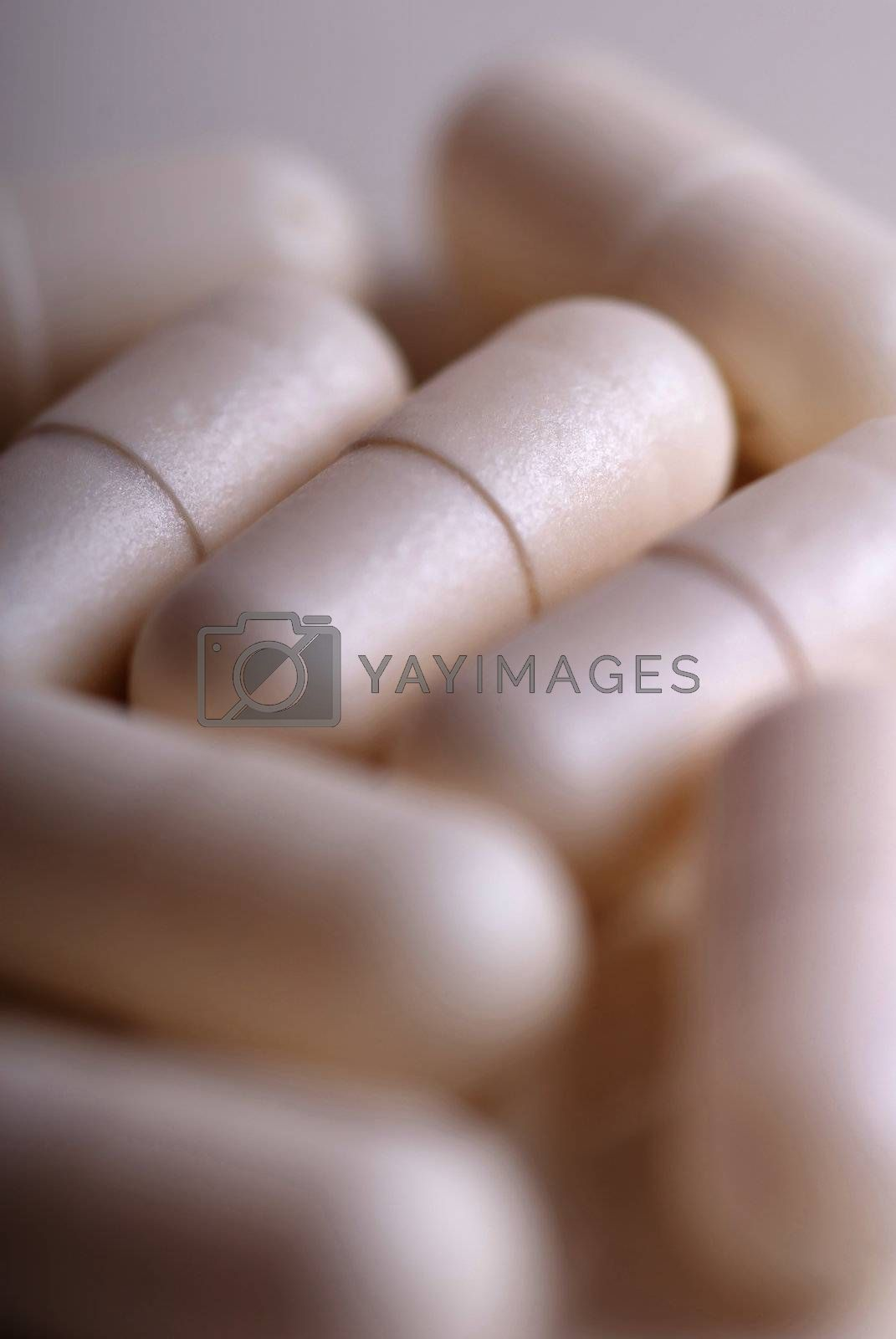 Close-up photo of the medical pills