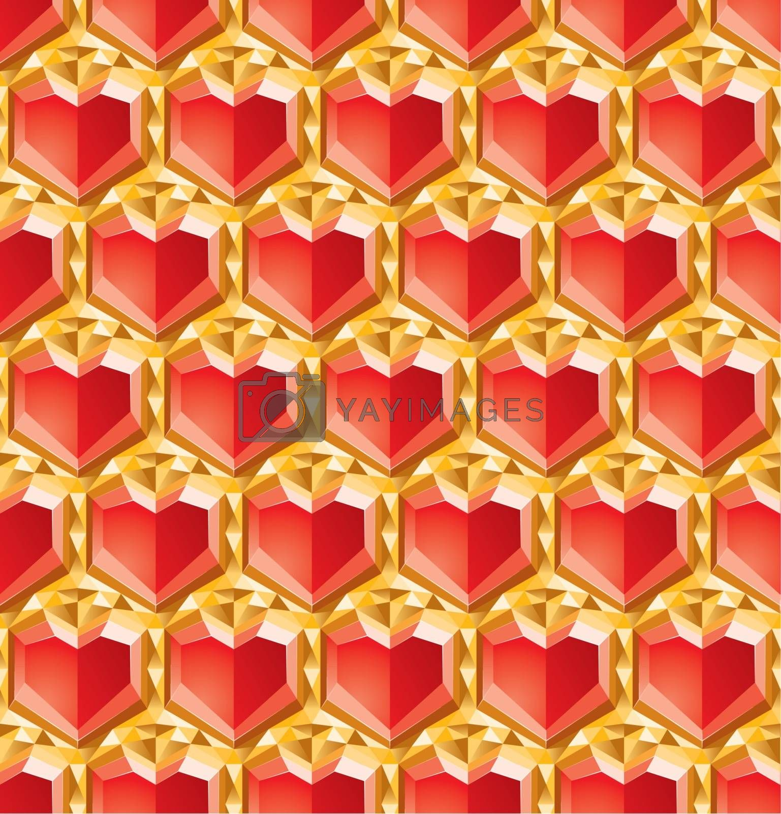 valentine diamonds background, abstract symbol