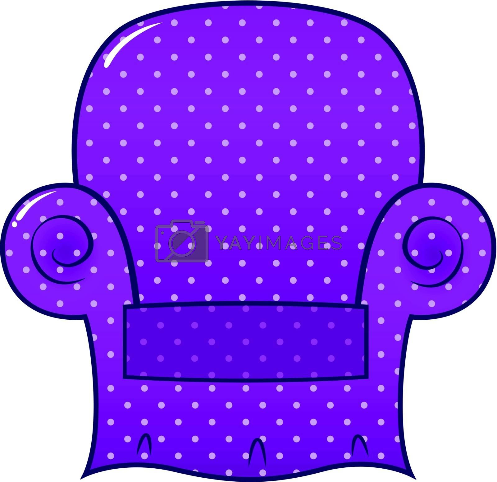 Style chic purple chair icon. Vector Illustration
