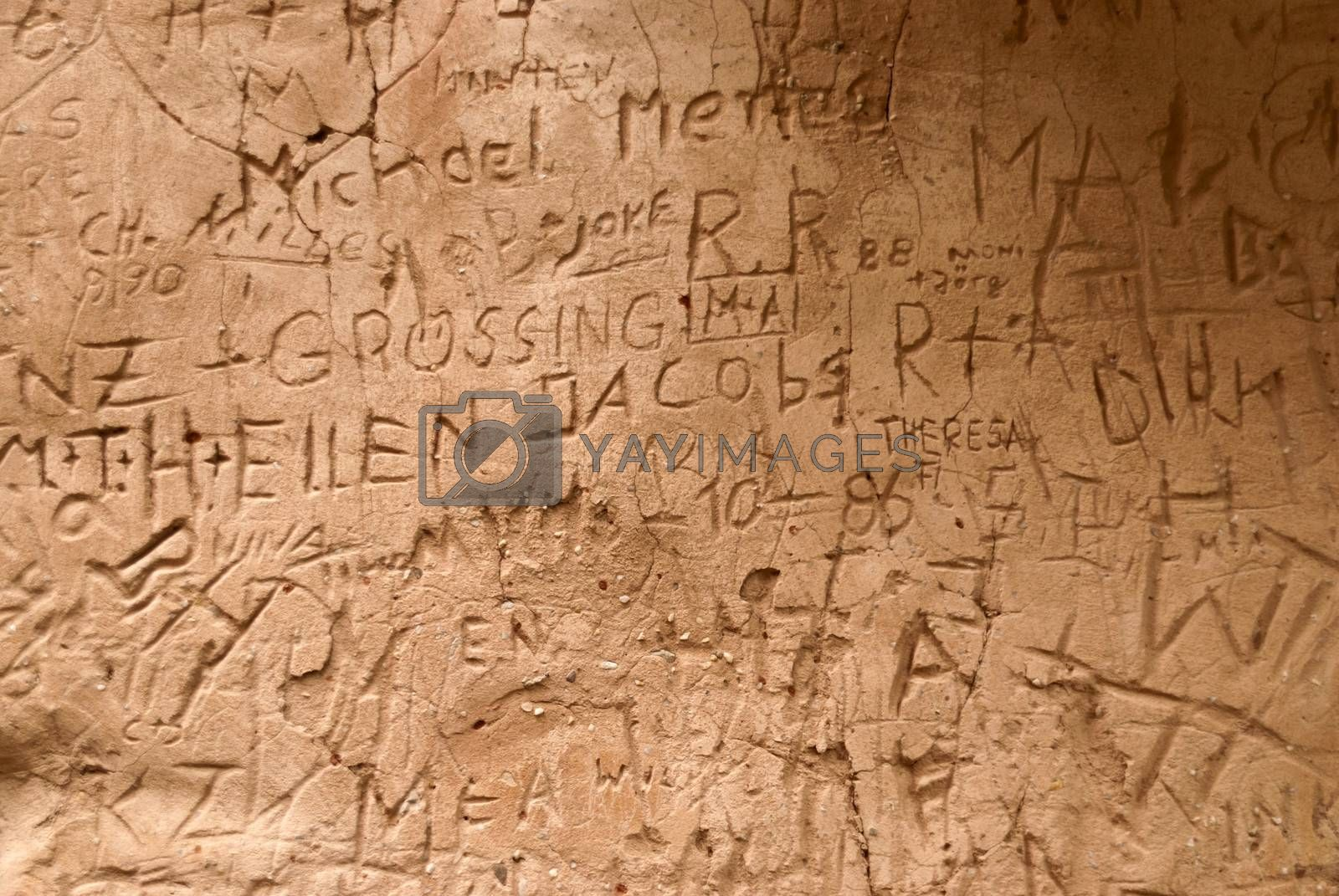 Graffiti in Castle Ramstein, Germany