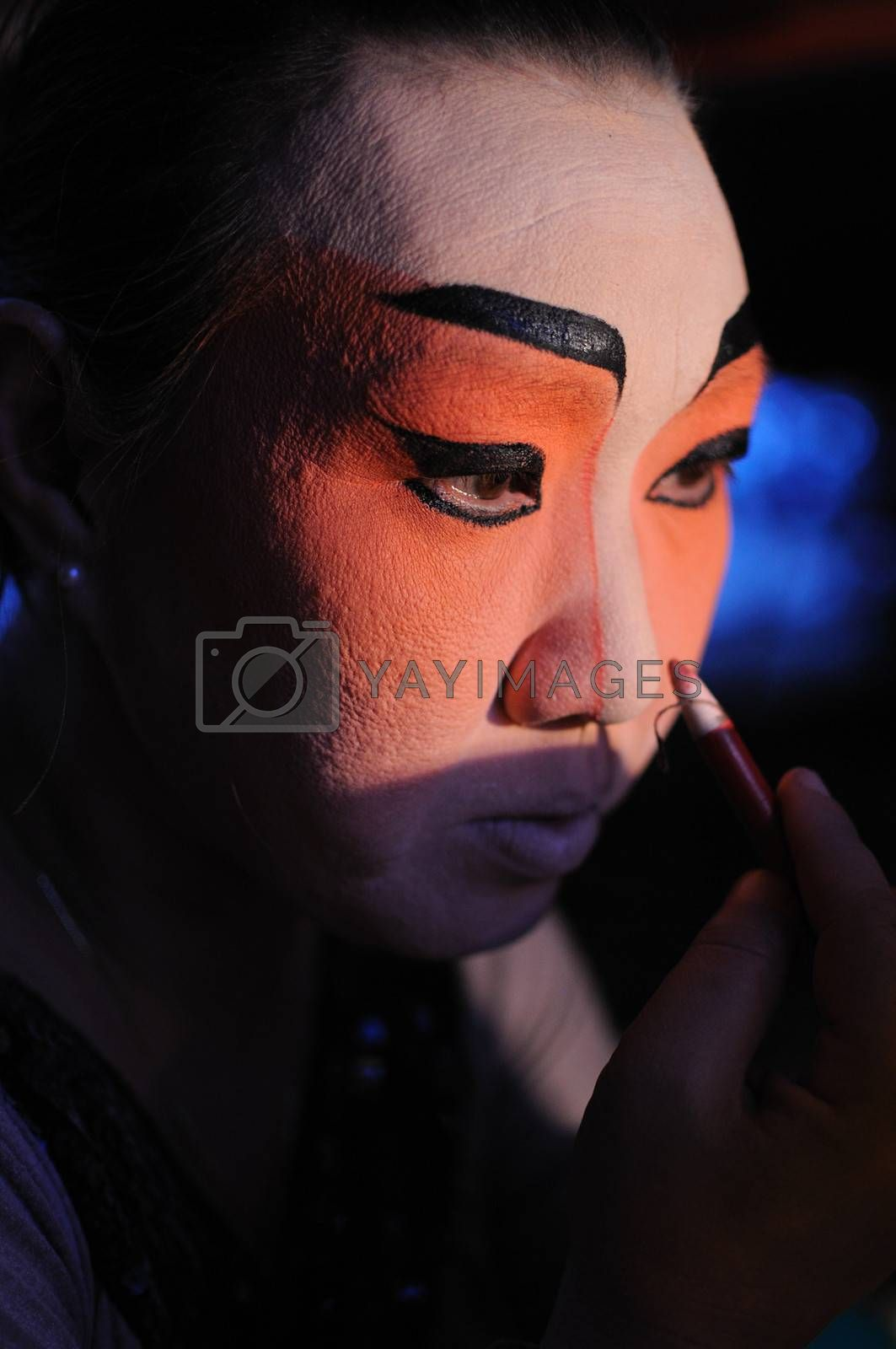 Royalty free image of Chinese Opera make up by letoakin