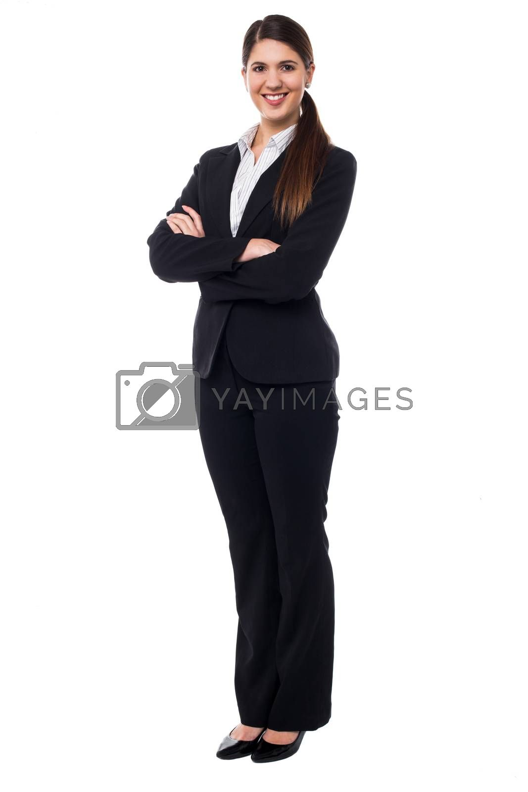 Royalty free image of Young confident female business executive by stockyimages