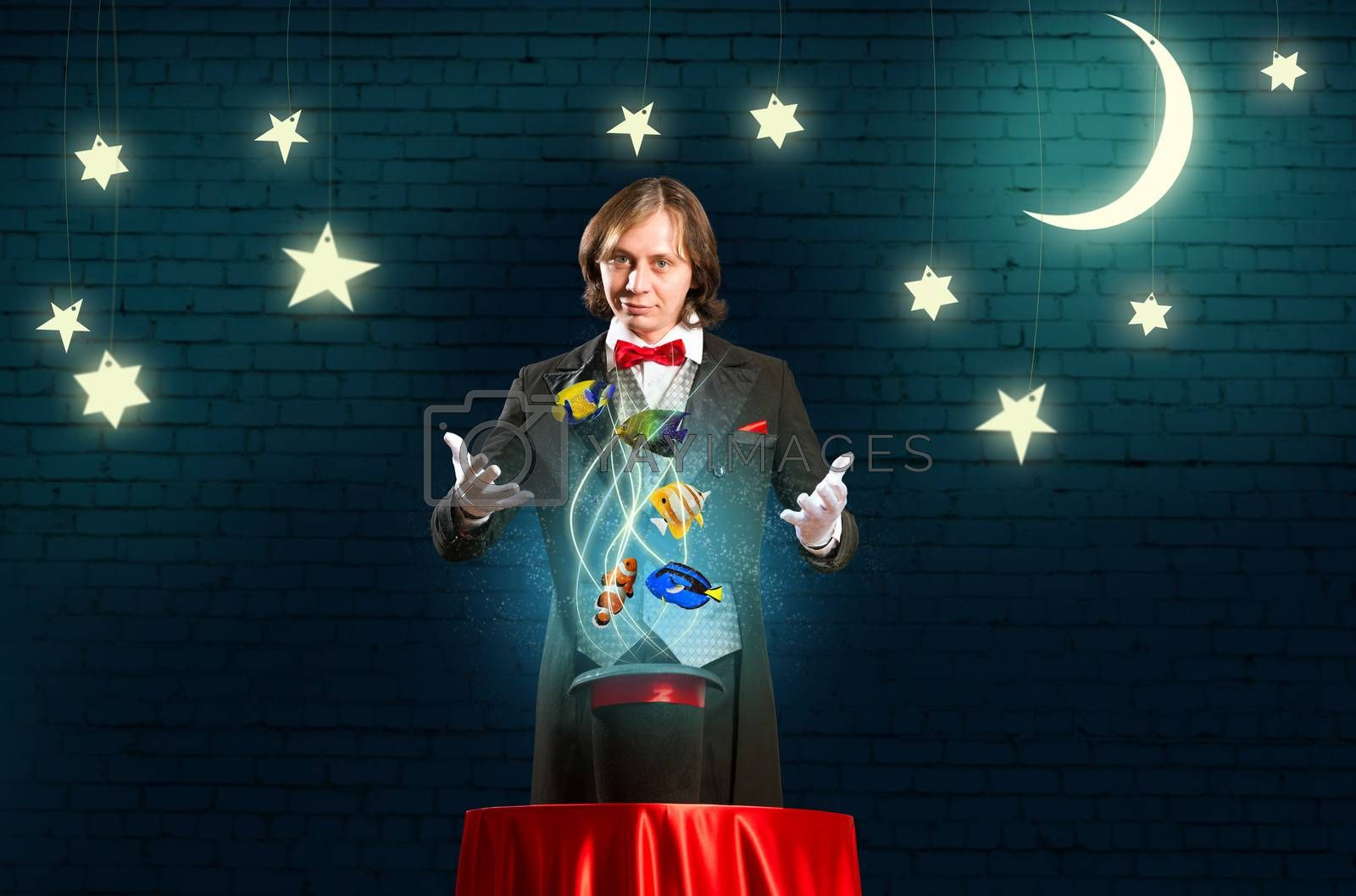 Royalty free image of magician casts a spell by adam121