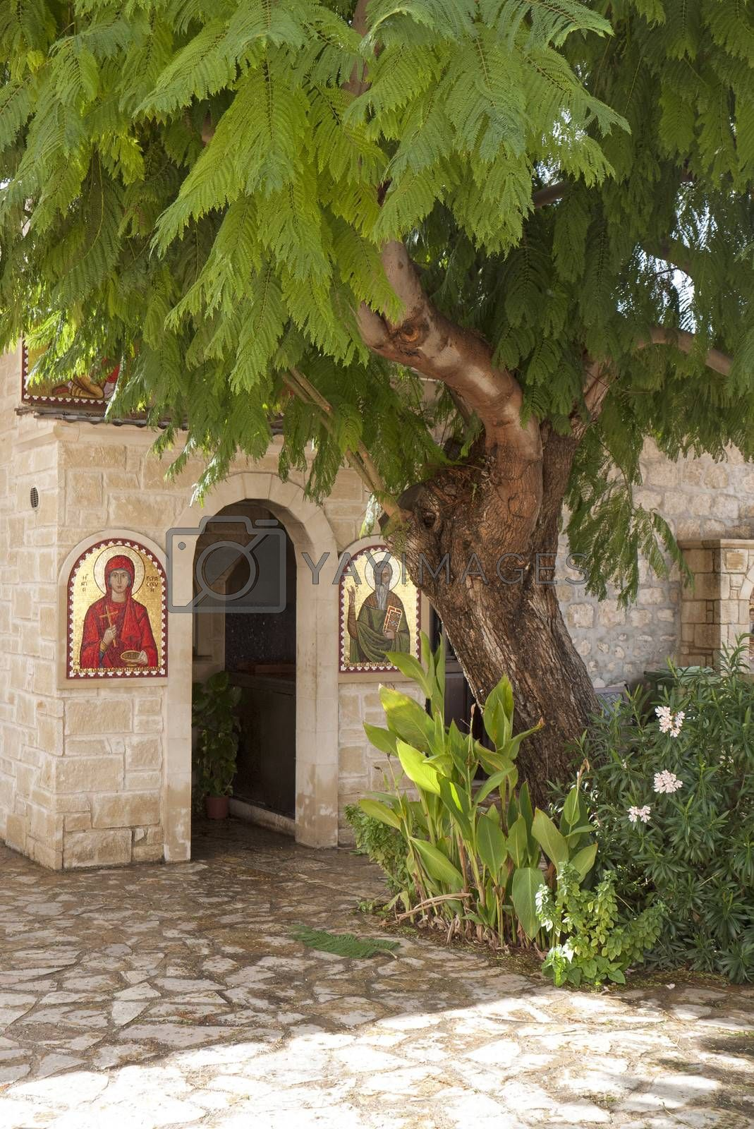 Royalty free image of Greek church entrance Cyprus by peter_t