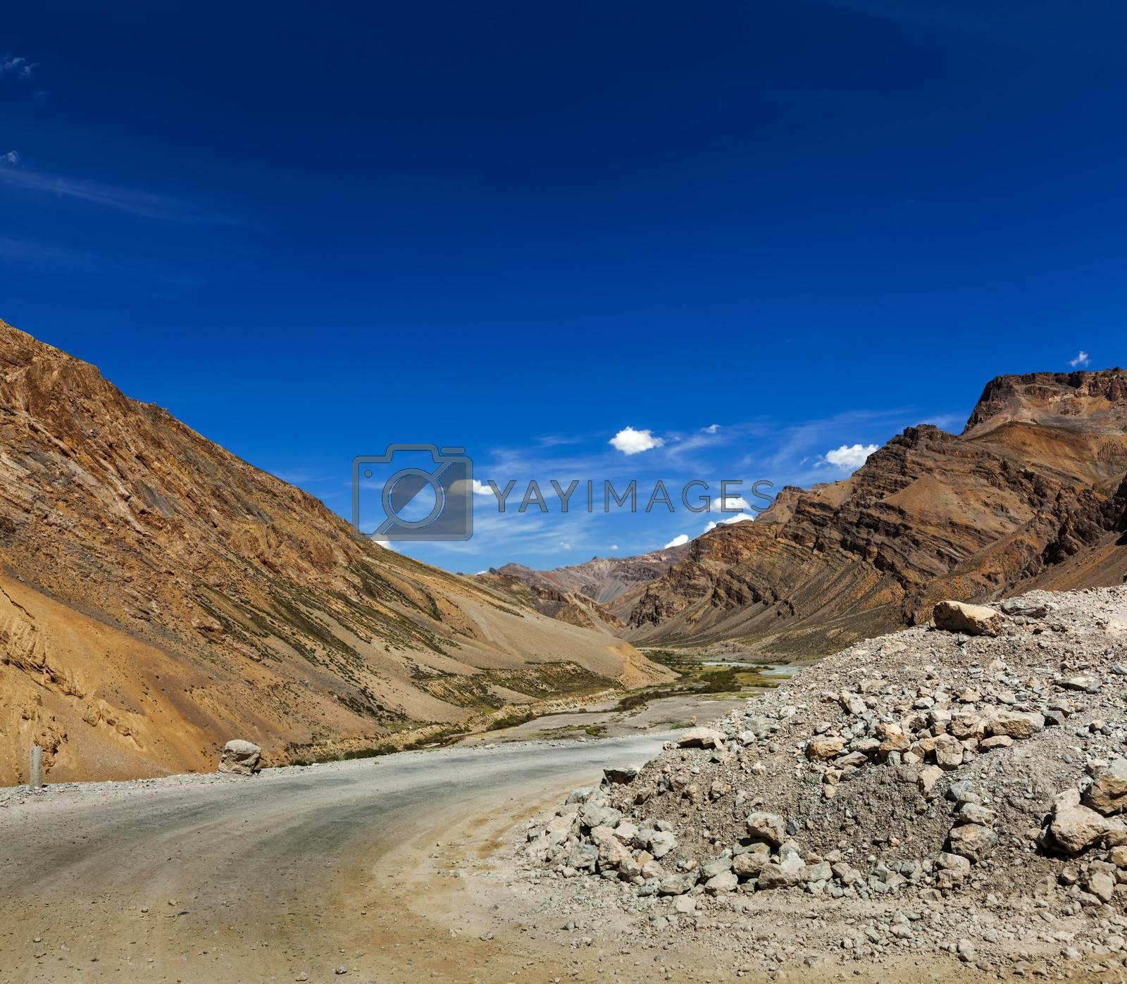 Royalty free image of Manali-Leh road by dimol