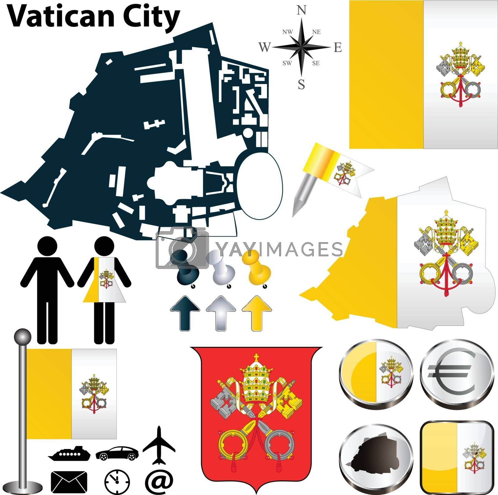 Royalty free image of Map of Vatican City by sateda