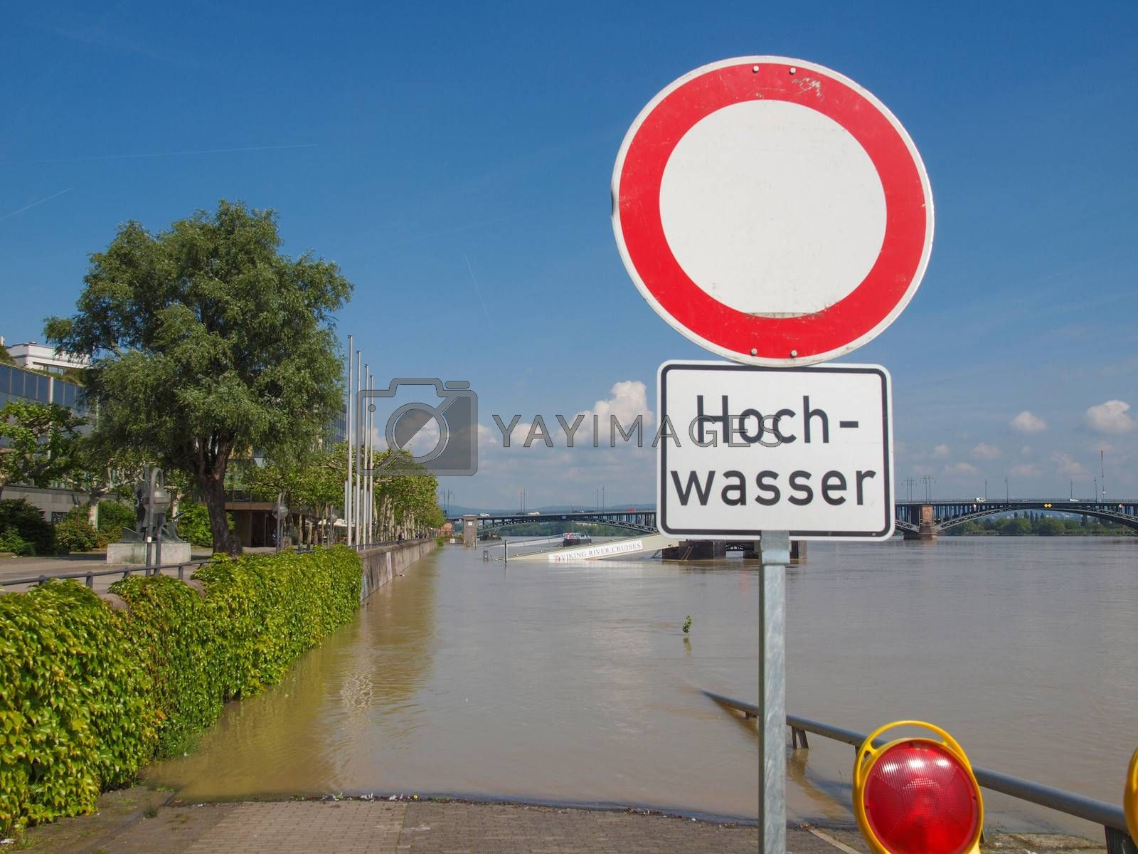 Royalty free image of Flood in Germany by claudiodivizia