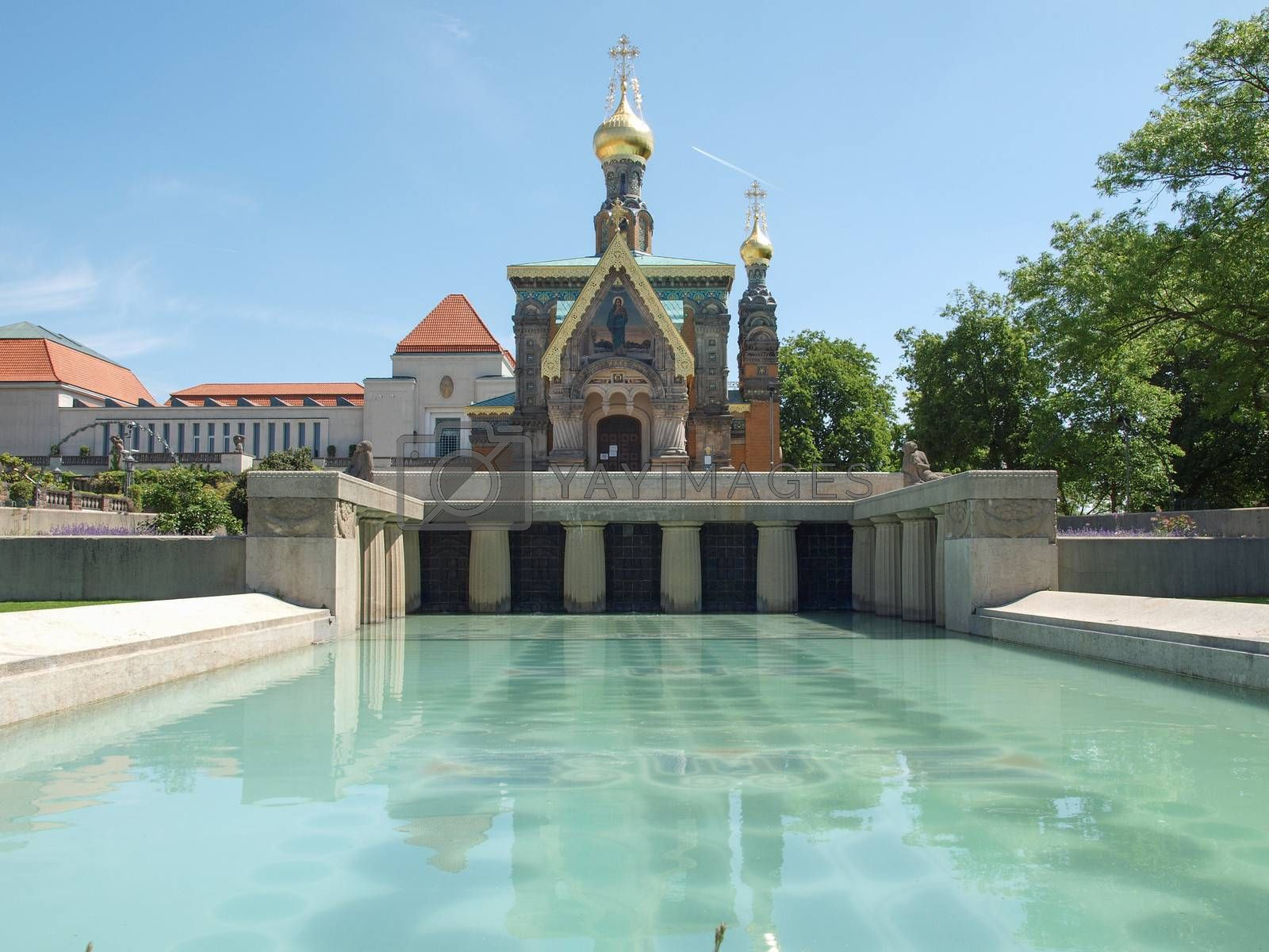 Royalty free image of Russian Chapel in Darmstadt by claudiodivizia
