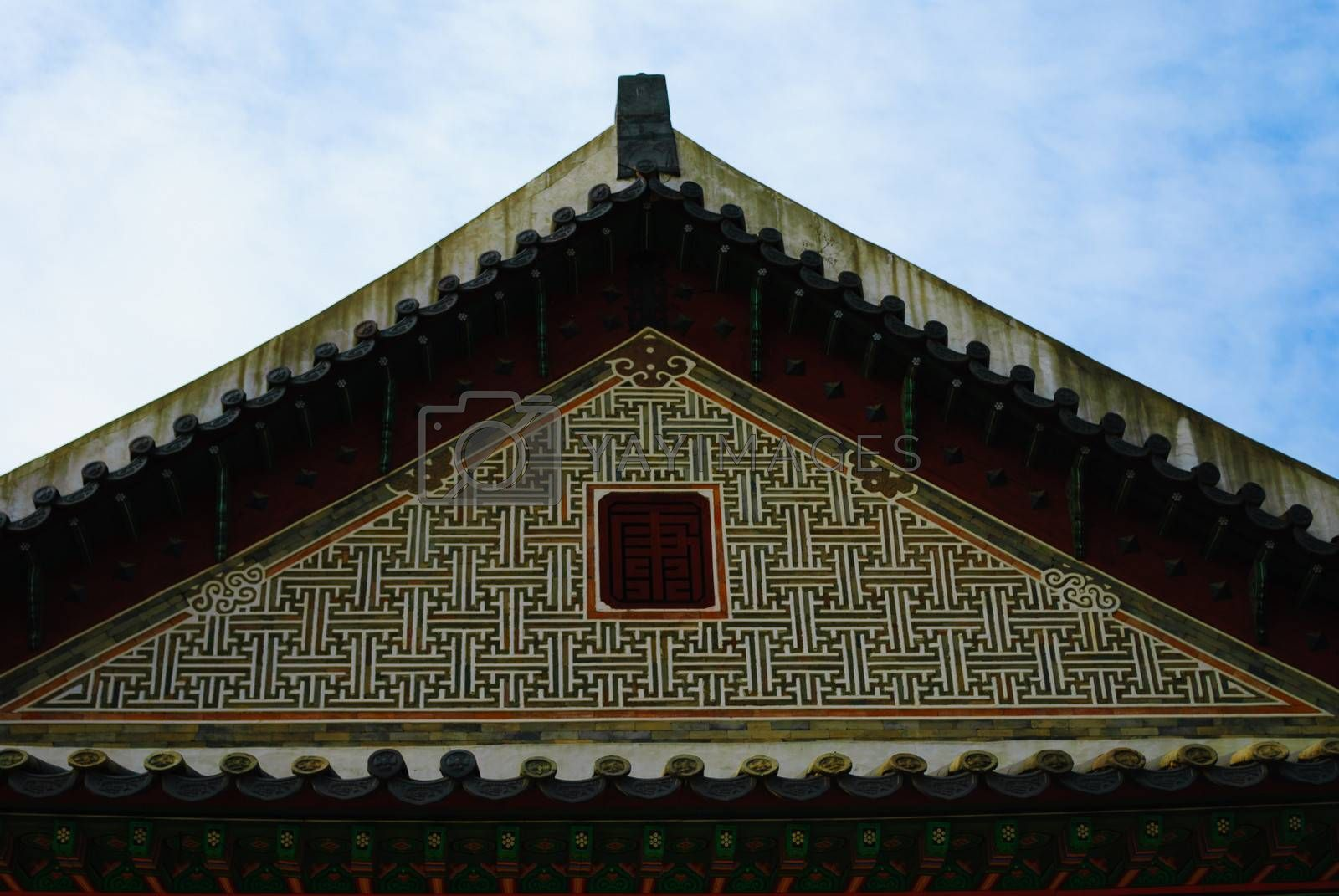 Royalty free image of Traditional Korea roof by finallast