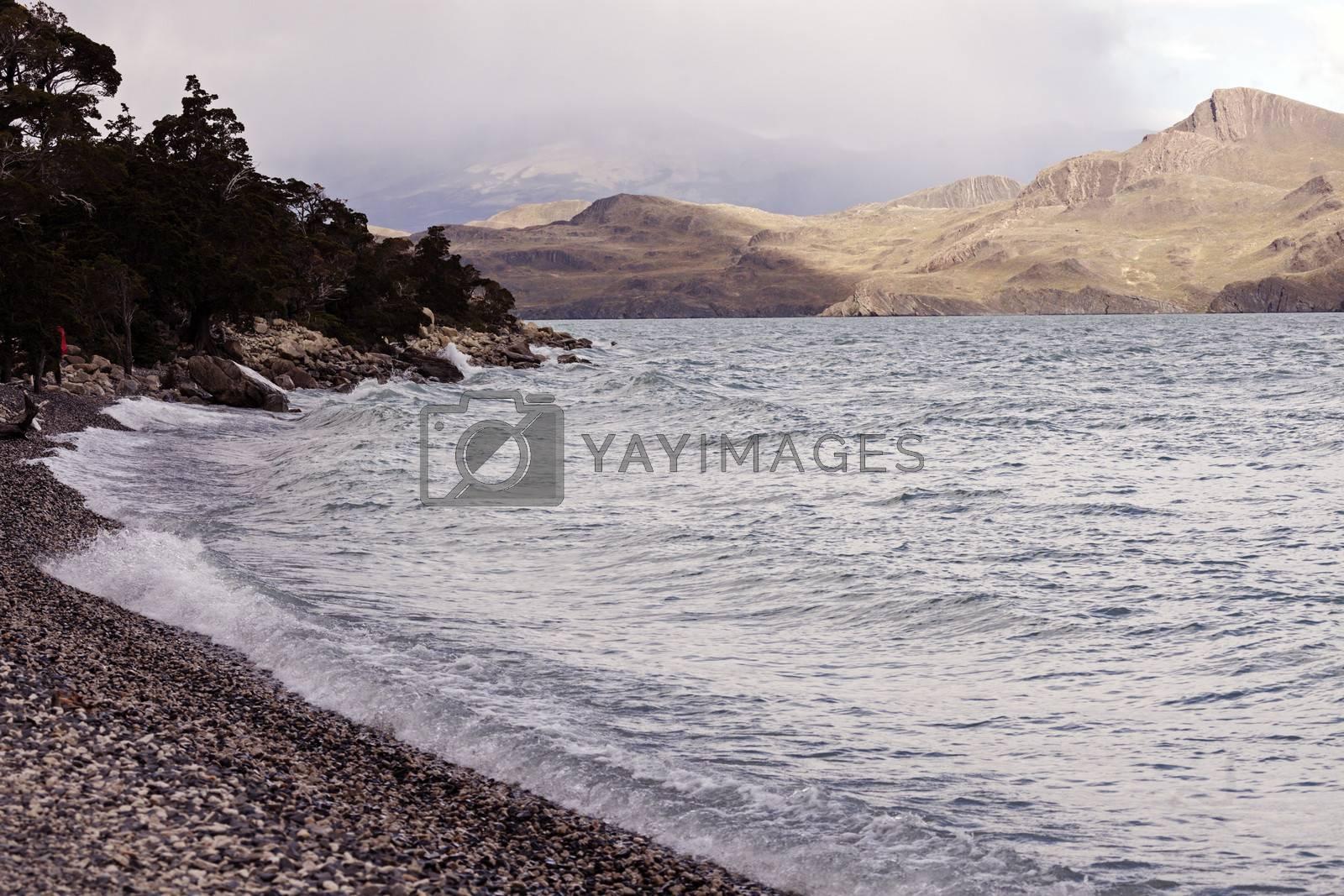 Royalty free image of Lake Nordenskjold by benkrut
