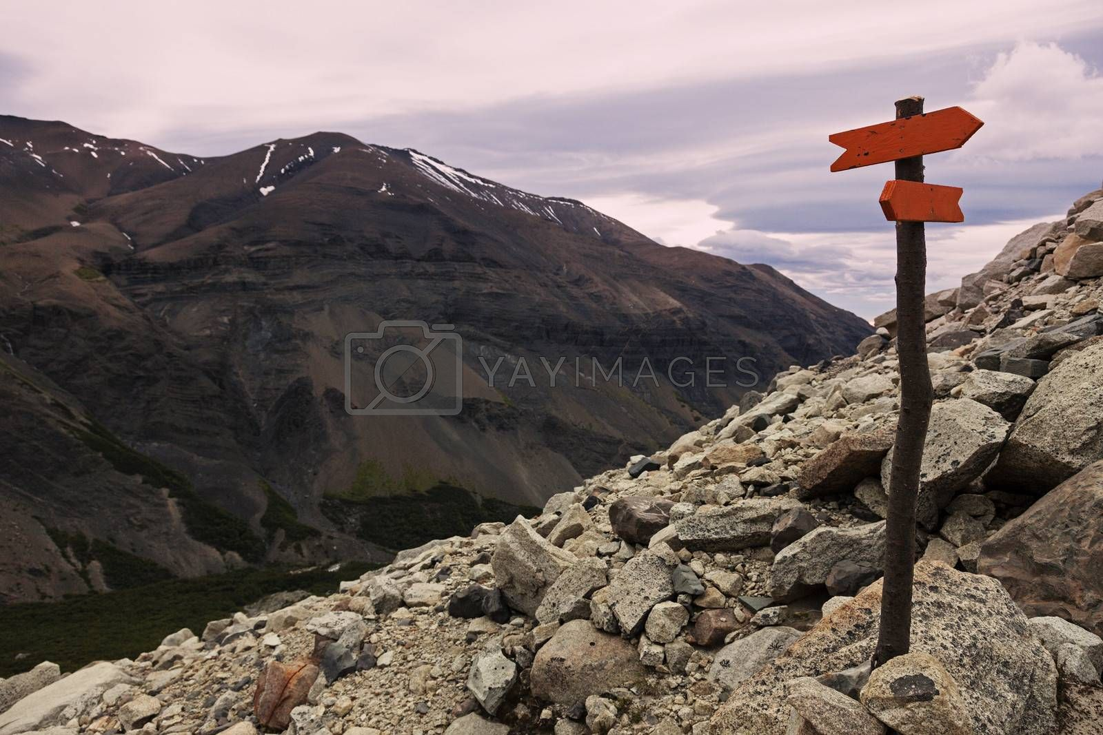 Royalty free image of Sign in Torres del Paine by benkrut