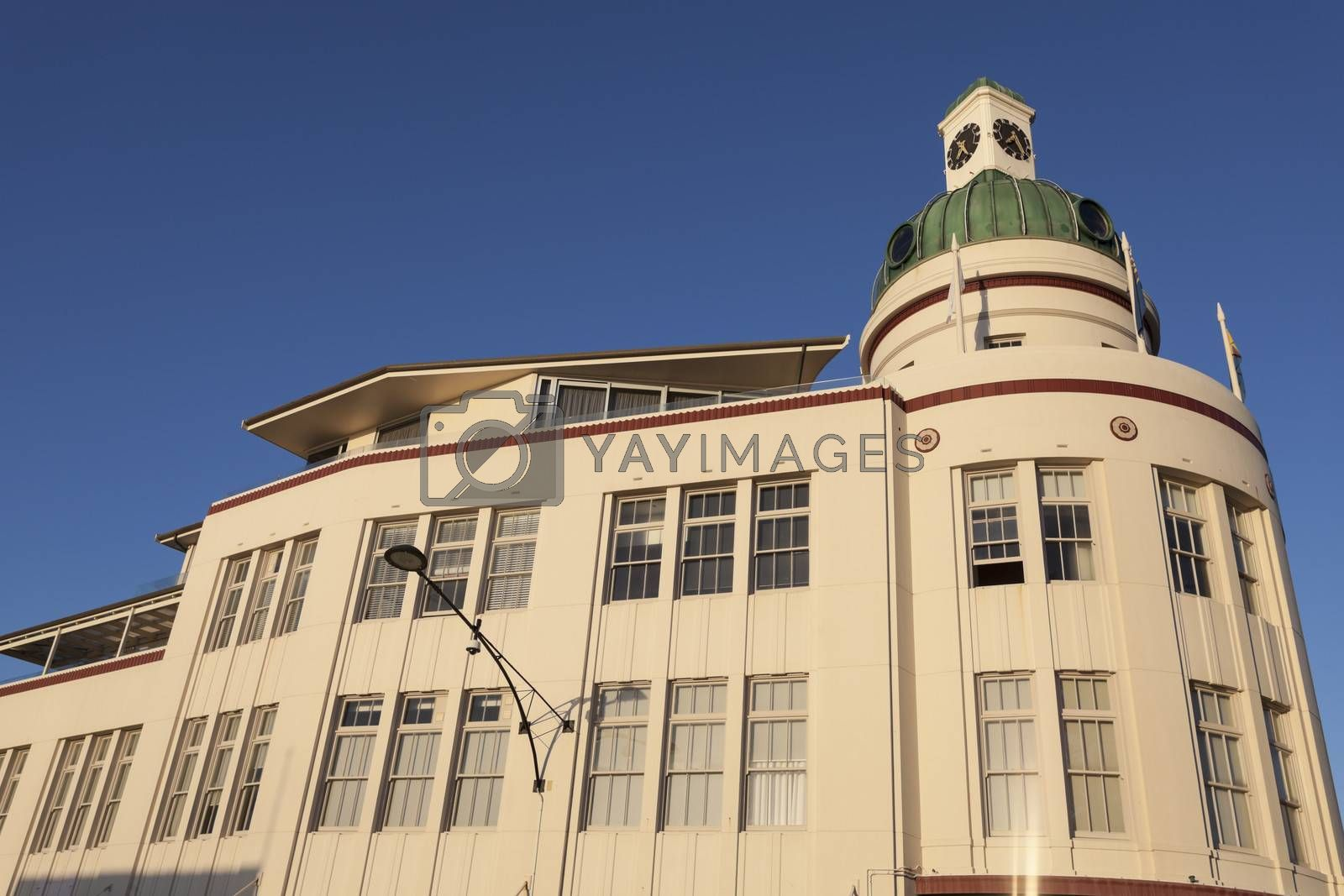 Royalty free image of Art deco architecture of Napier  by benkrut