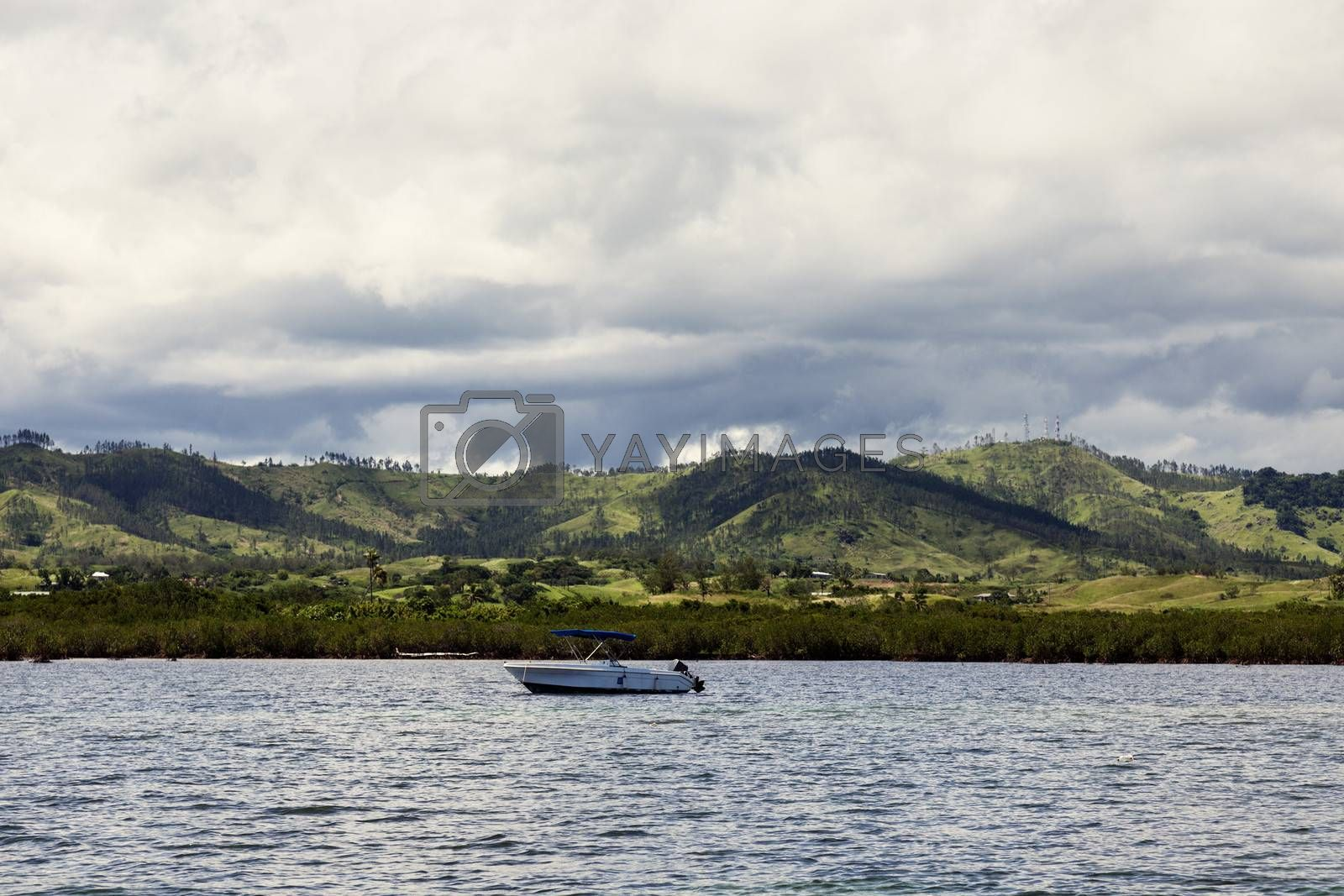 Royalty free image of Fiji from the ocean by benkrut