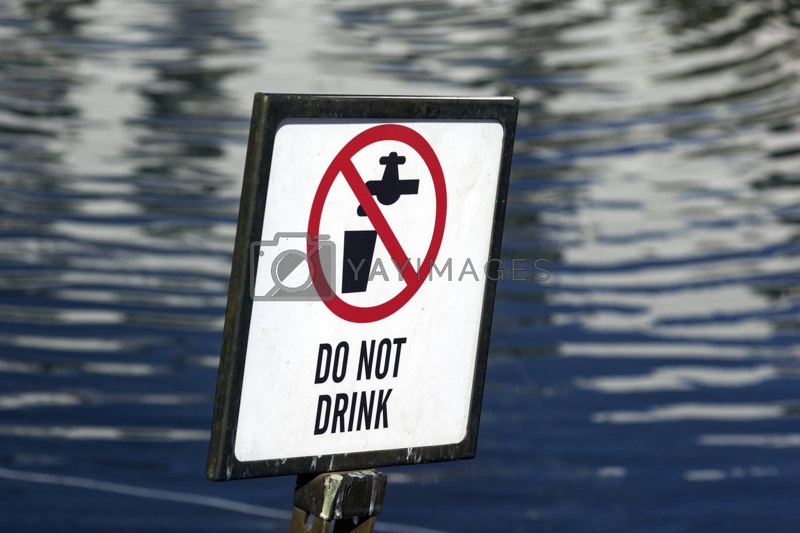 Royalty free image of Do not drink by benkrut