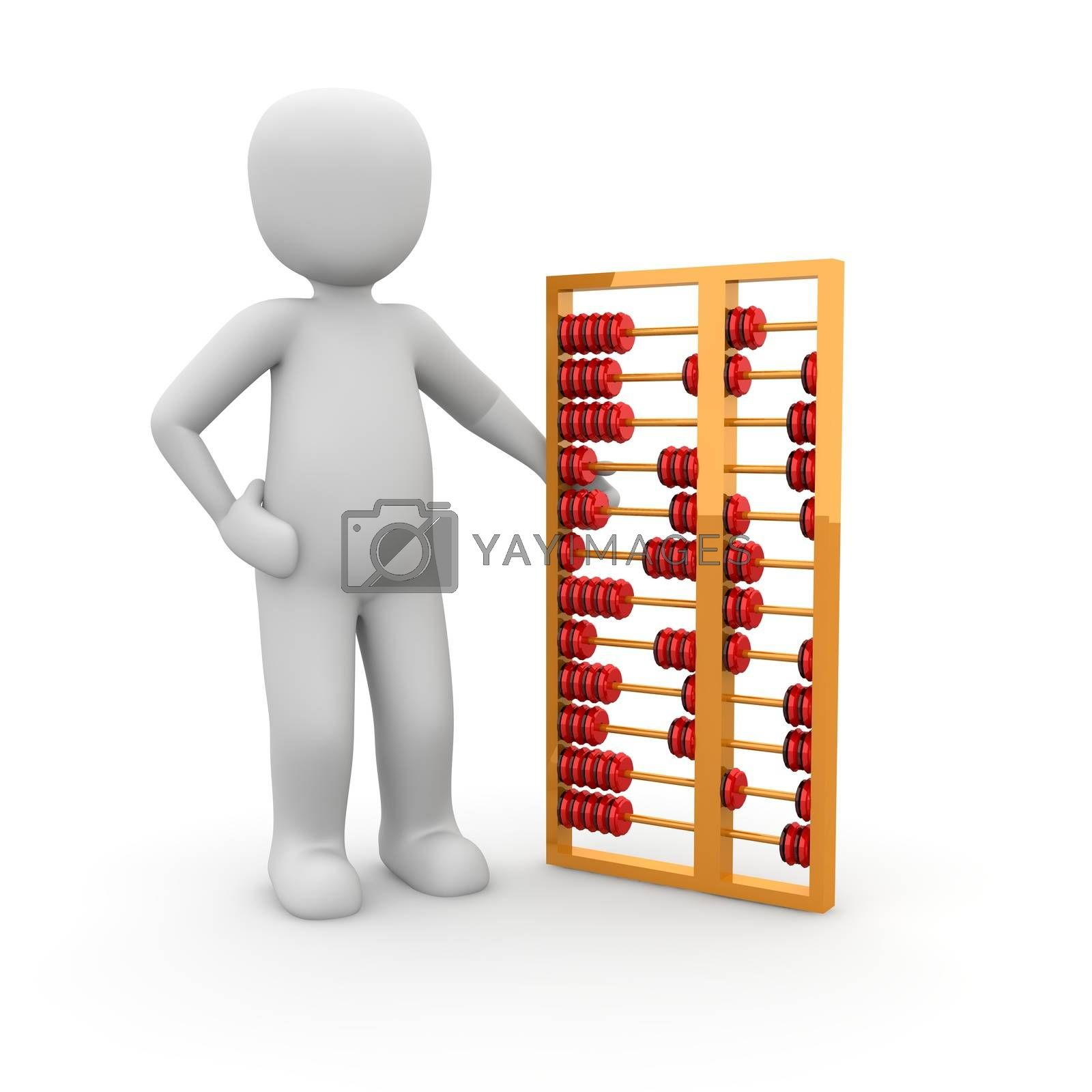 Royalty free image of Abacus red by 3DAgentur