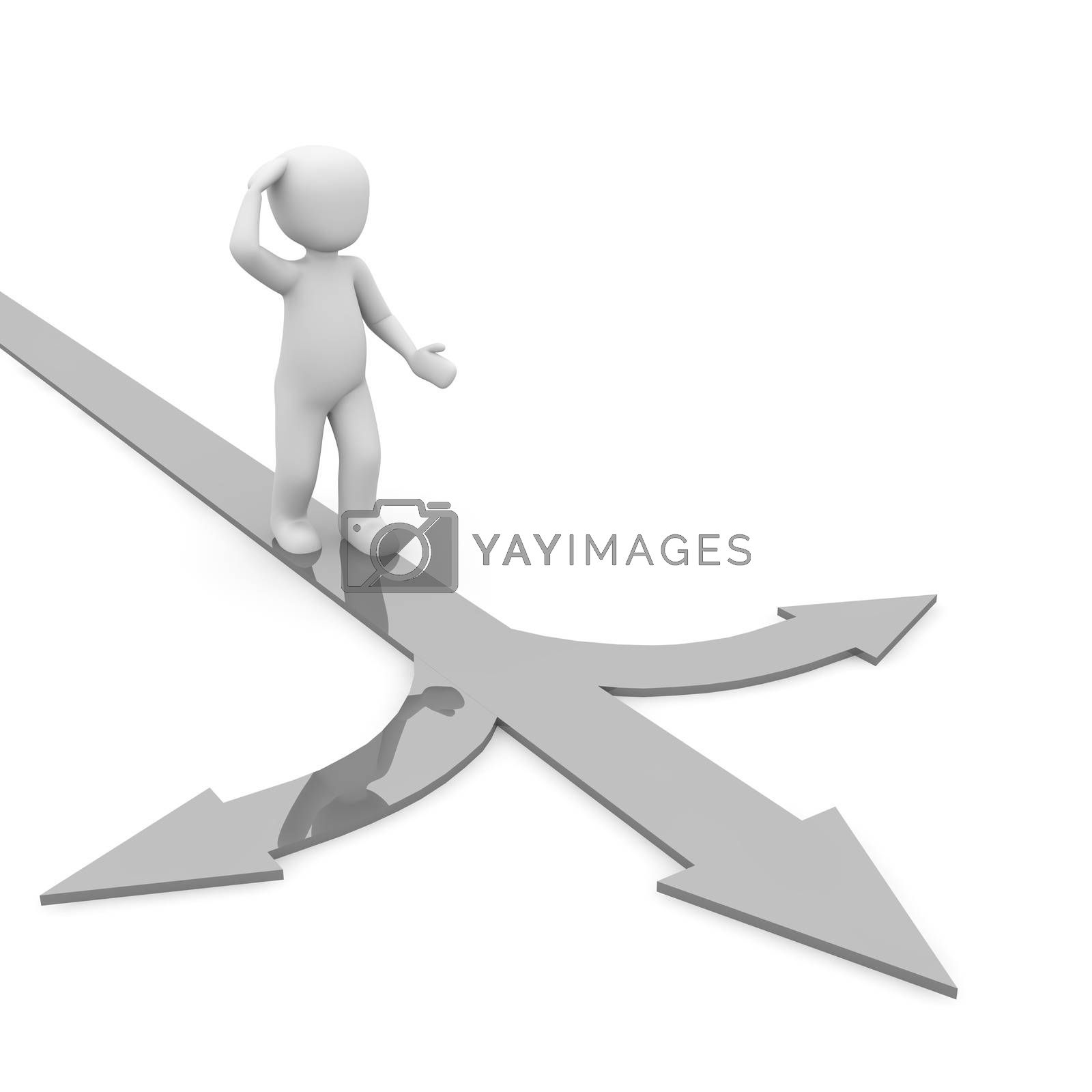 Royalty free image of directions grey by 3DAgentur