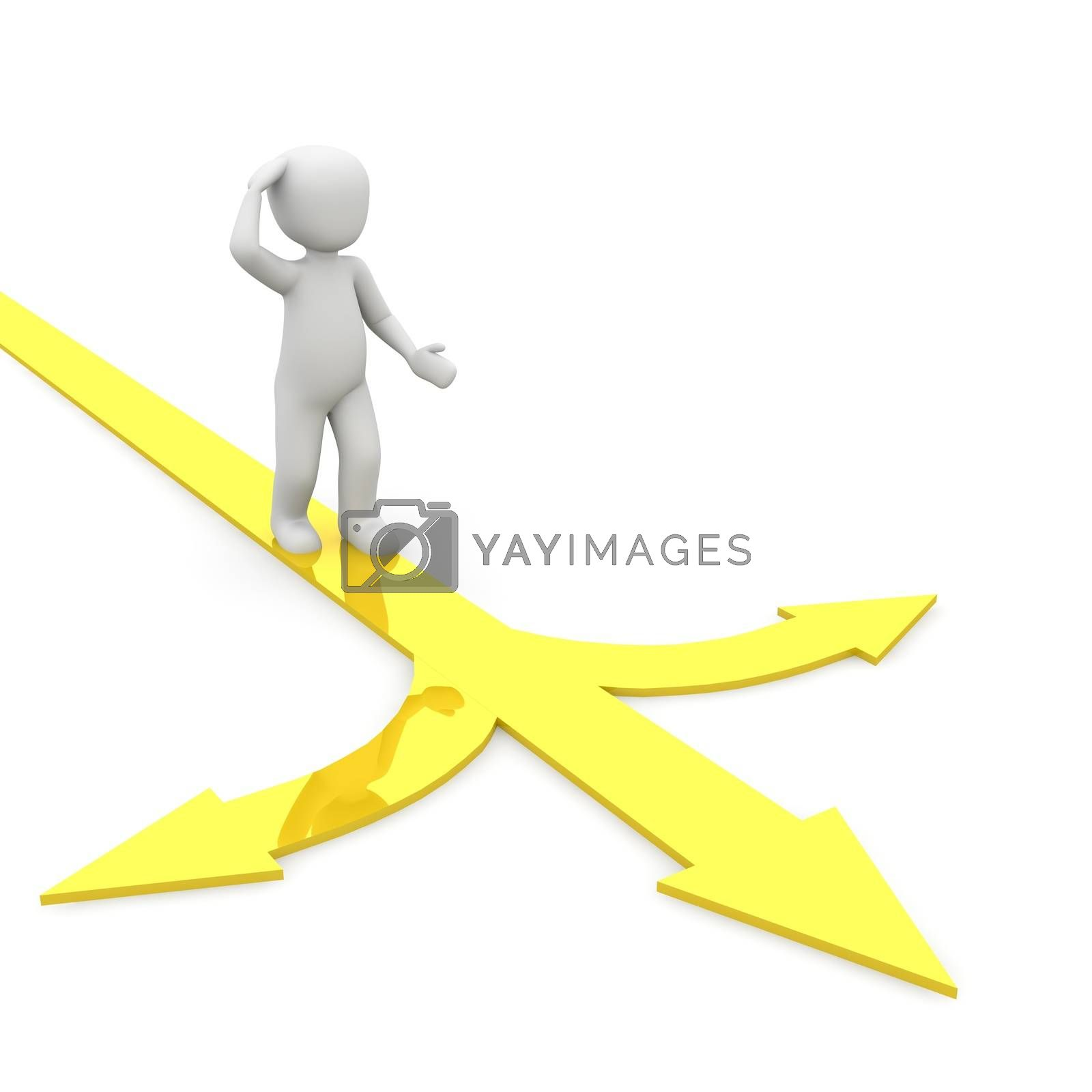Royalty free image of directions yellow by 3DAgentur