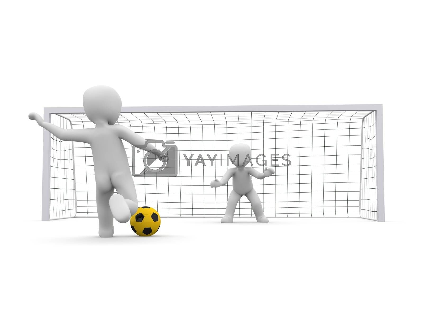 Royalty free image of shoot ball yellow by 3DAgentur