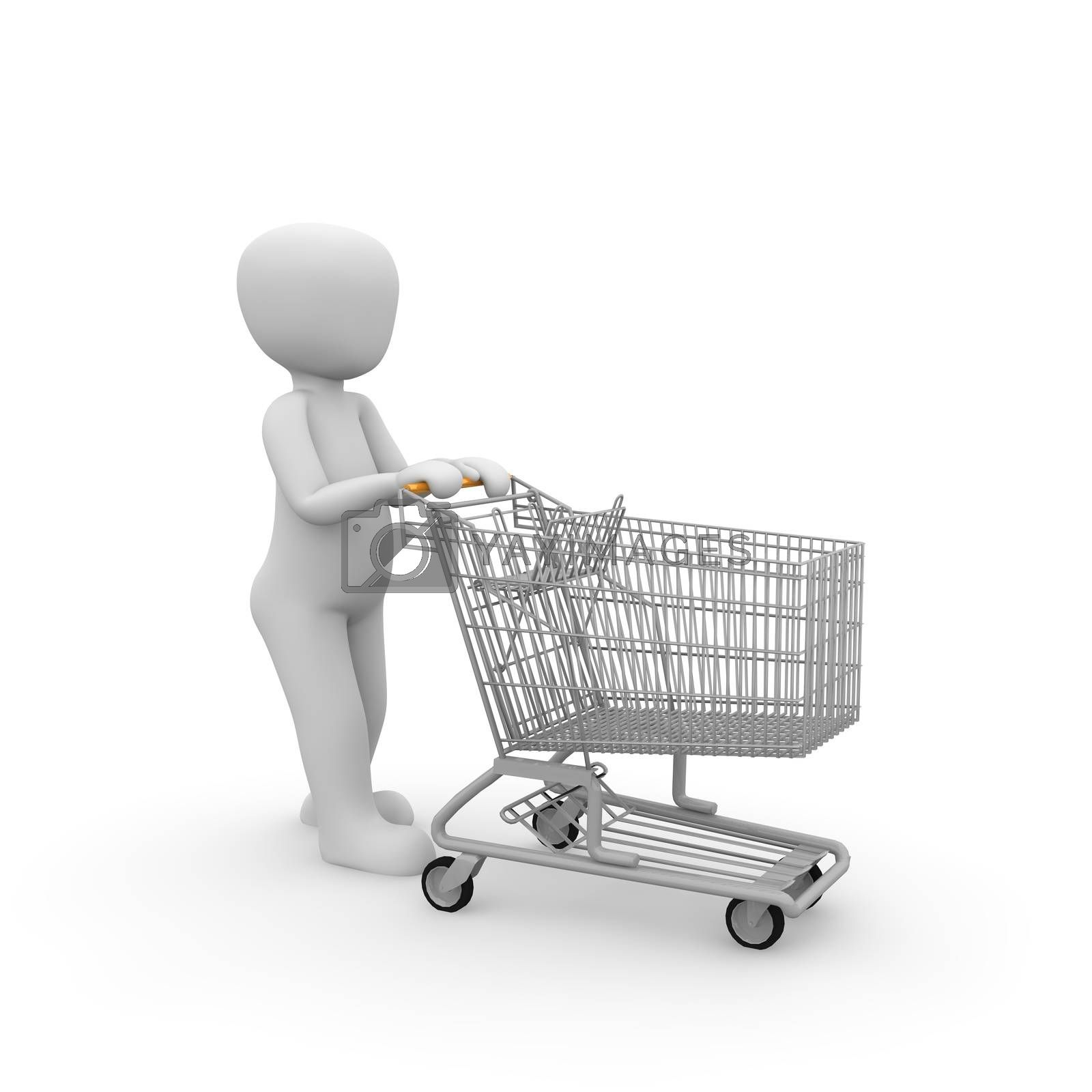 Royalty free image of shopping cart 3 by 3DAgentur