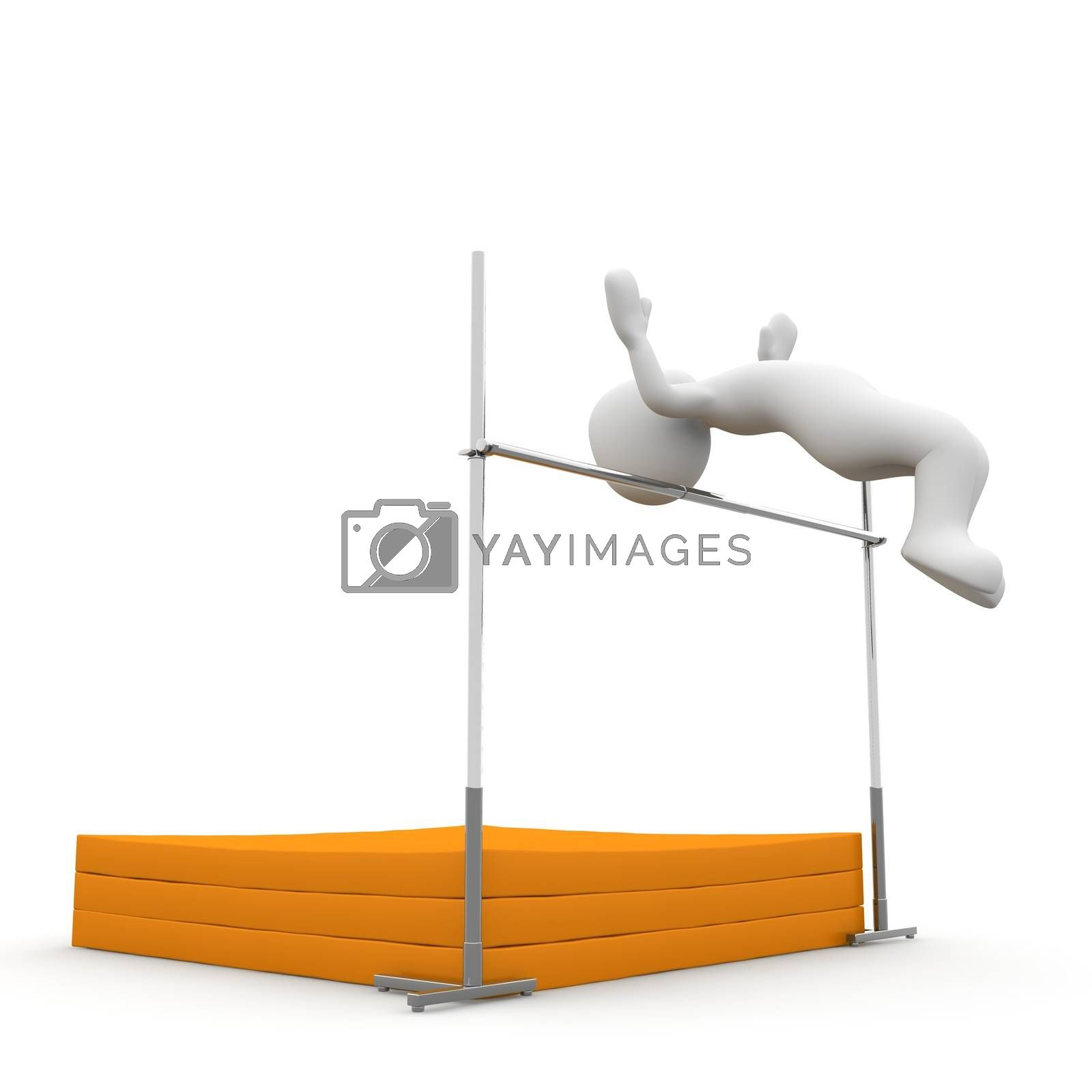Royalty free image of Jumping 1 by 3DAgentur
