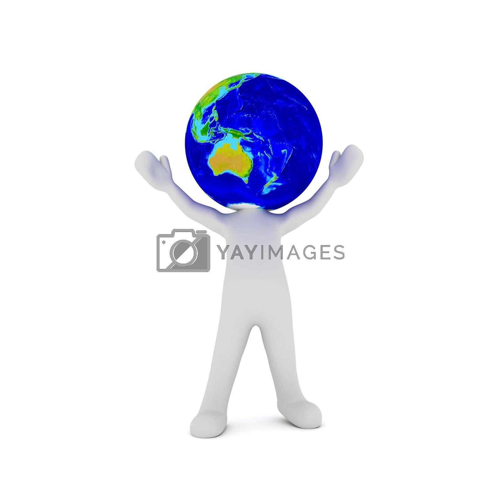 Royalty free image of world ruler by 3DAgentur