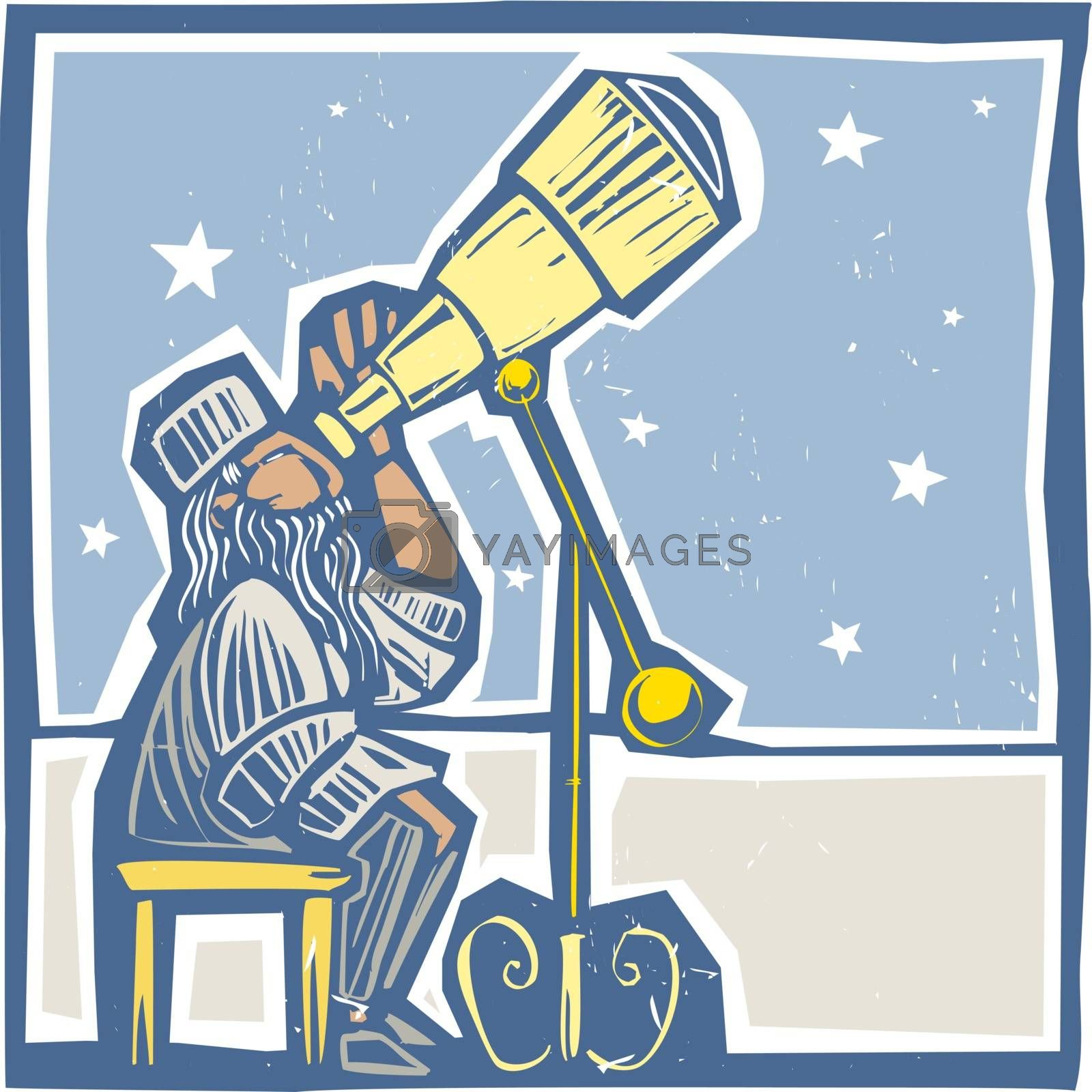 Astronomer at night by Xochicalco