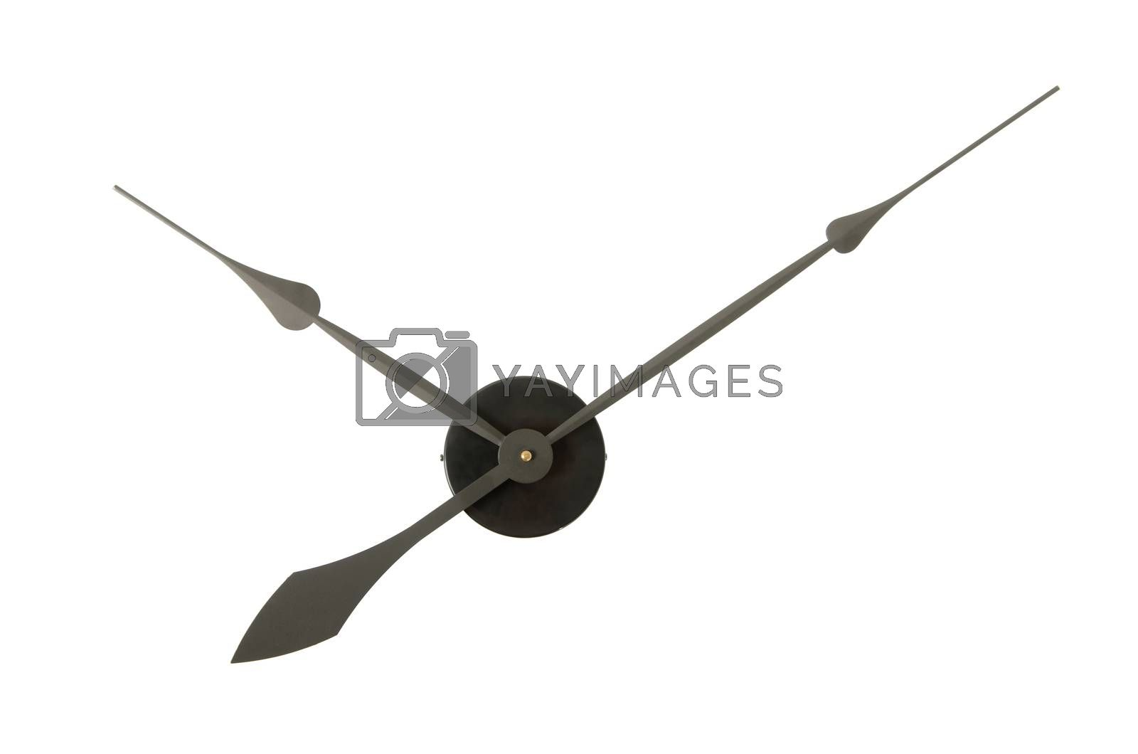 Clock hands isolated on white background