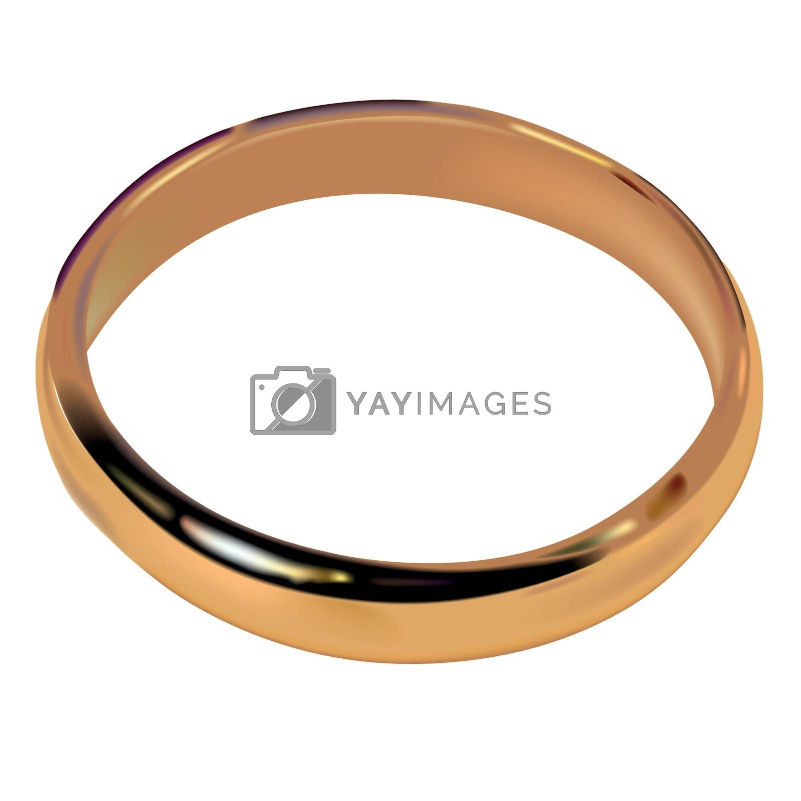 Wedding Ring - Colored Illustration, Vector
