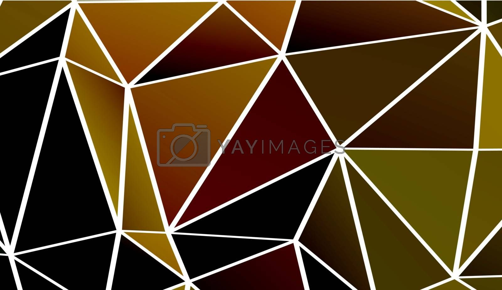 Abstract background made out of dark polygons