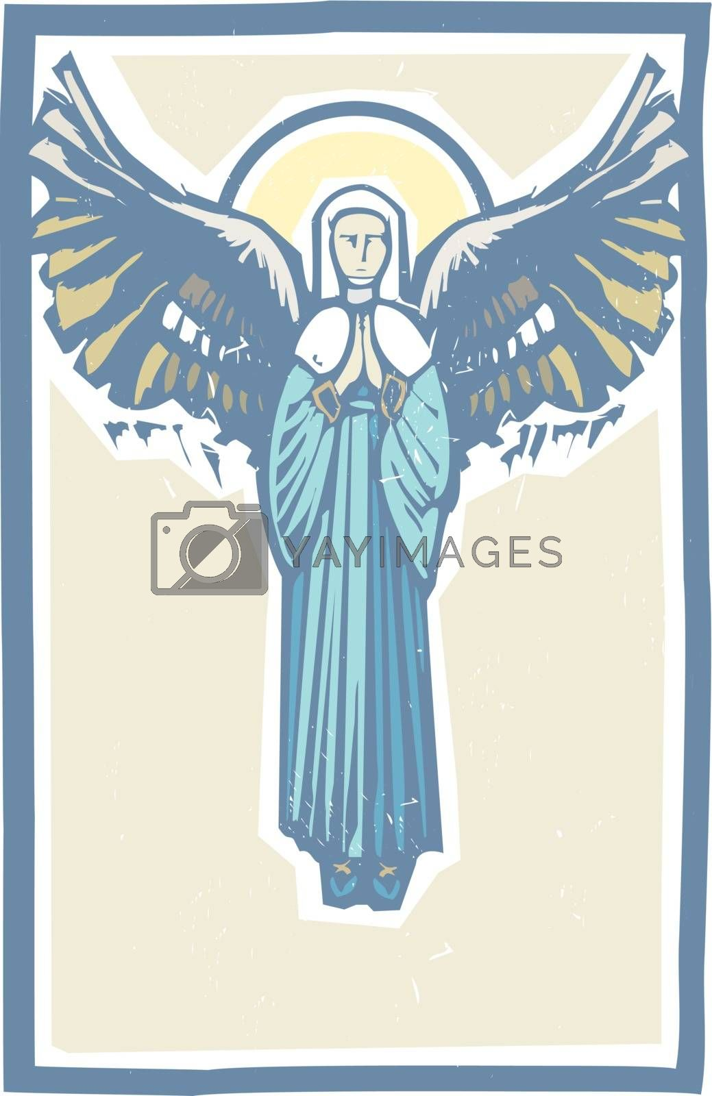 Angel Winged Virgin Mary by Xochicalco
